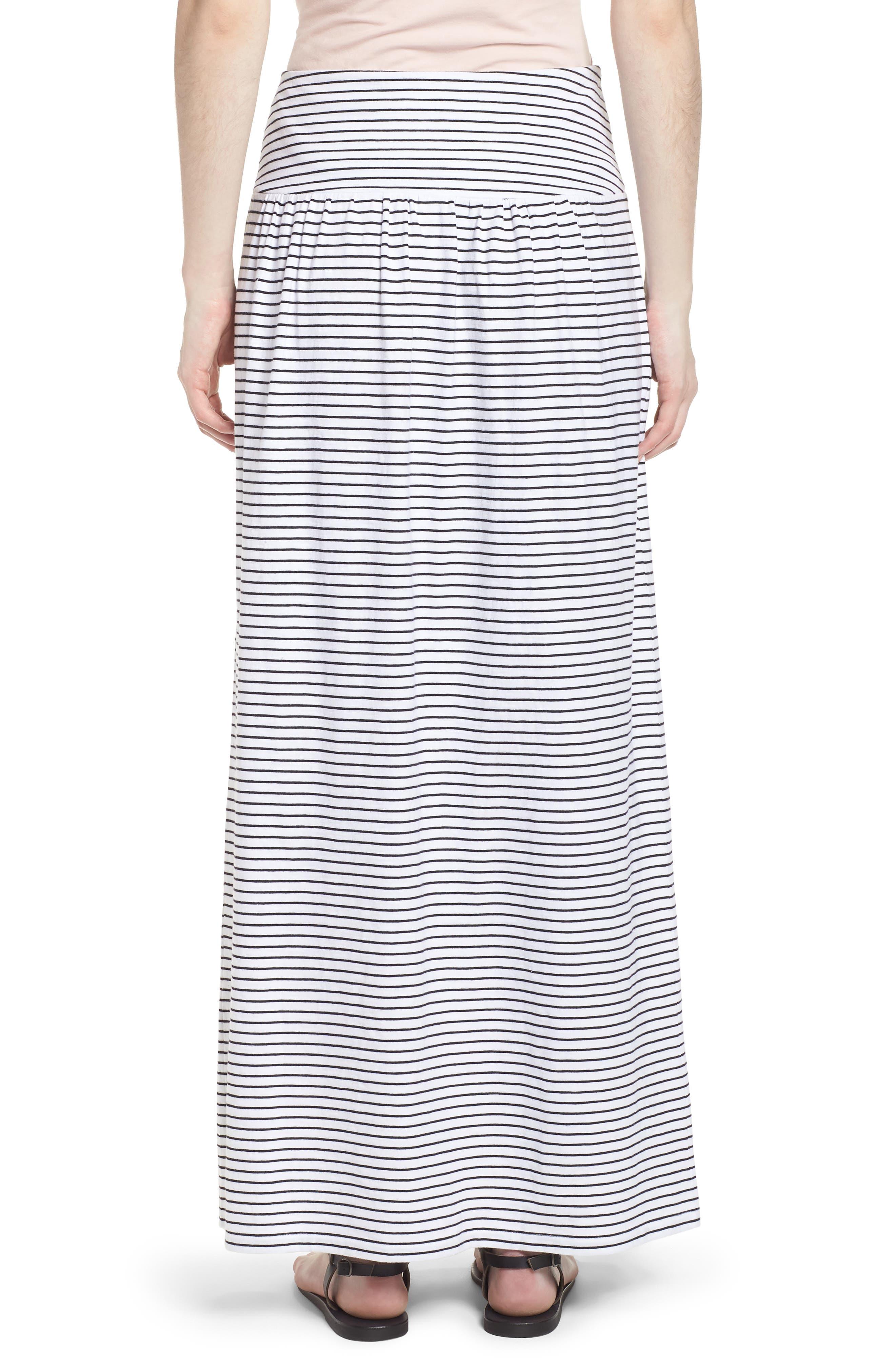 Tie Front Cotton Maxi Skirt,                             Alternate thumbnail 7, color,