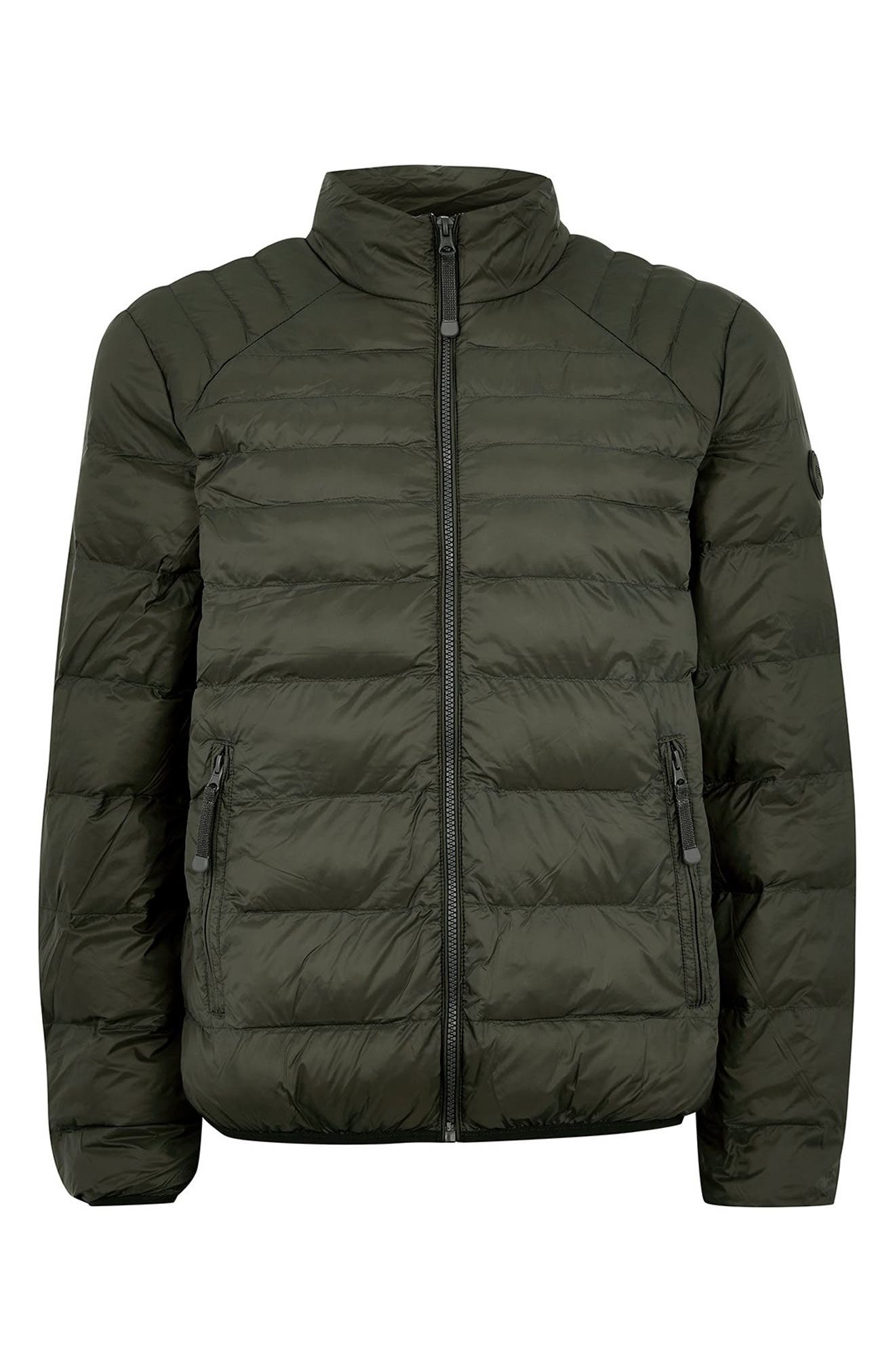 Mitchell Quiilted Nylon Jacket,                             Alternate thumbnail 5, color,                             GREEN