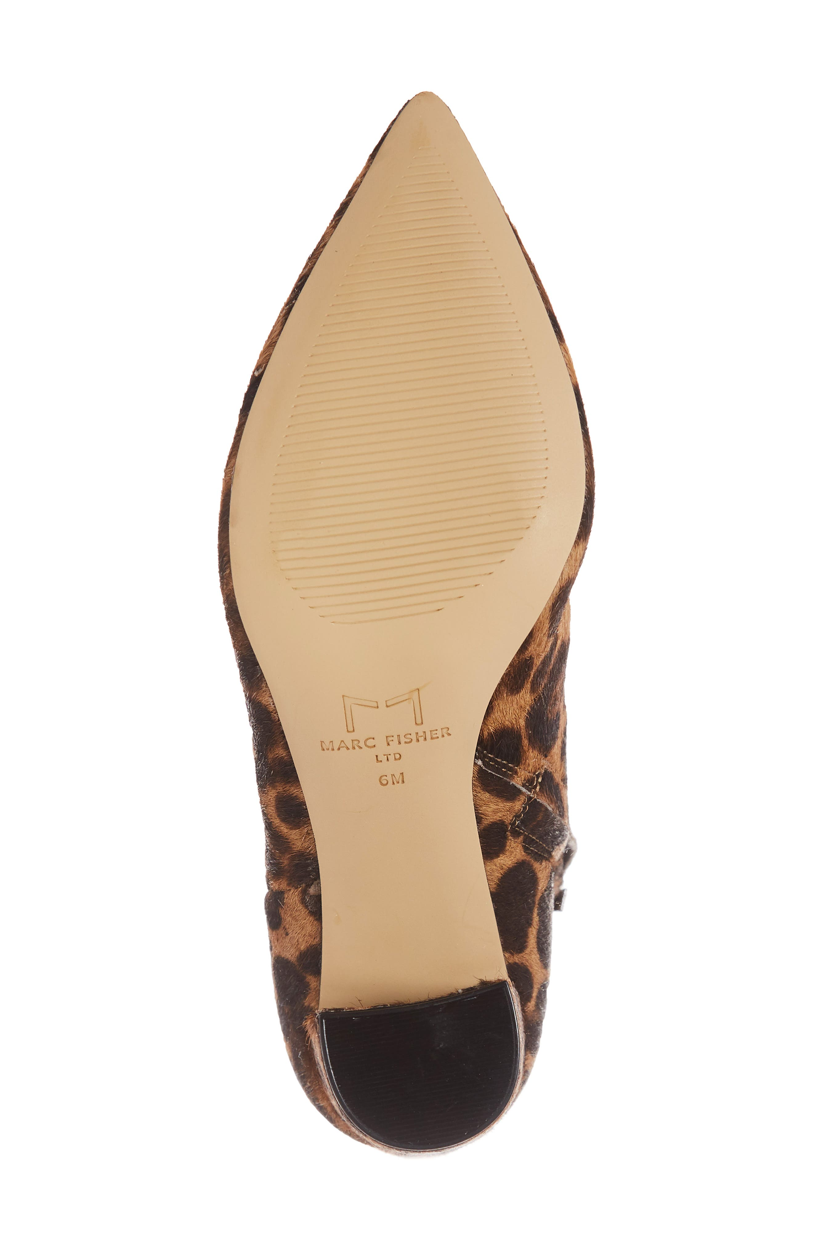 Ulanily Pointy Toe Bootie,                             Alternate thumbnail 6, color,                             LEOPARD CALF HAIR