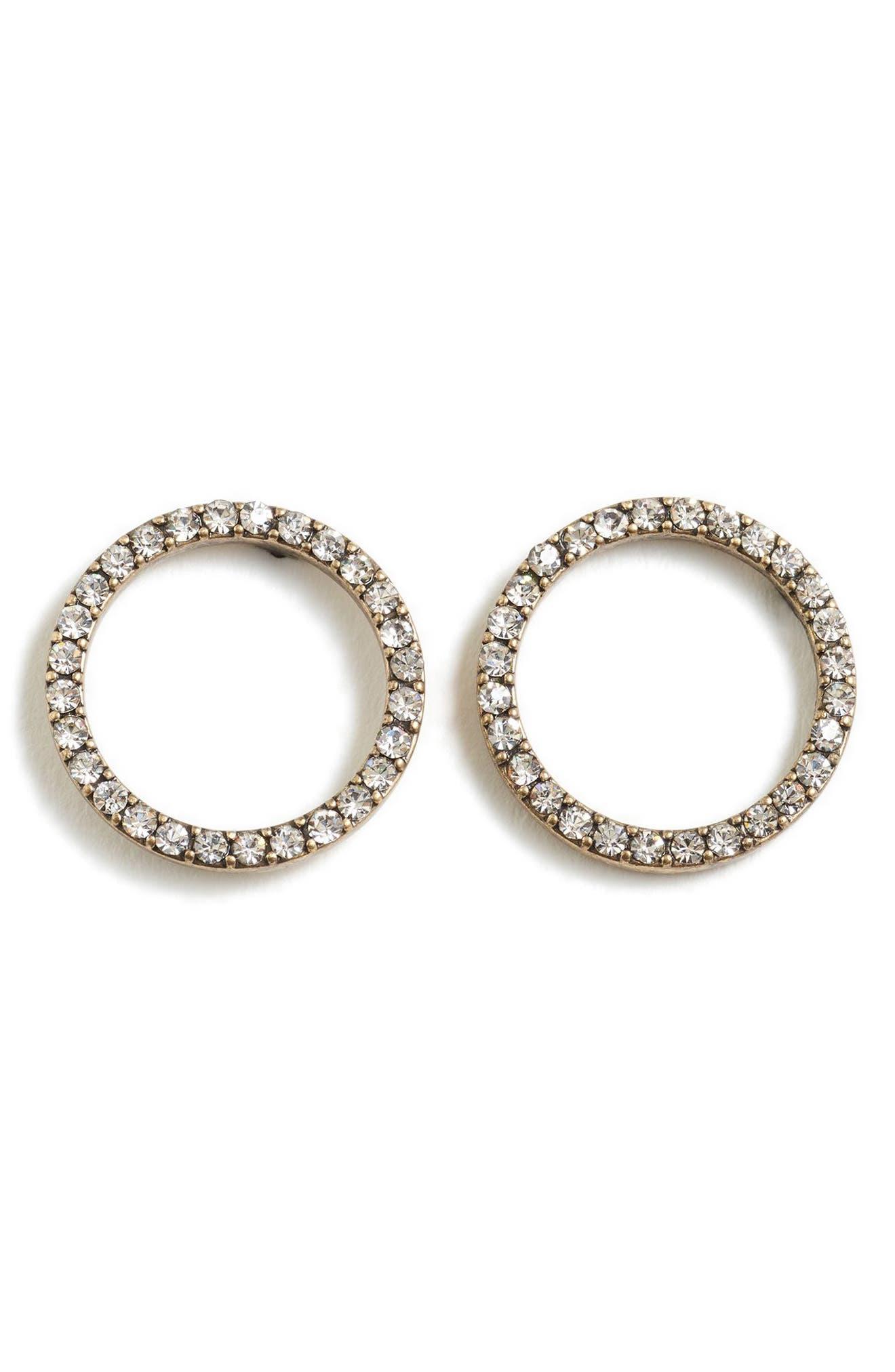 Pavé Circle Earrings,                         Main,                         color, 040