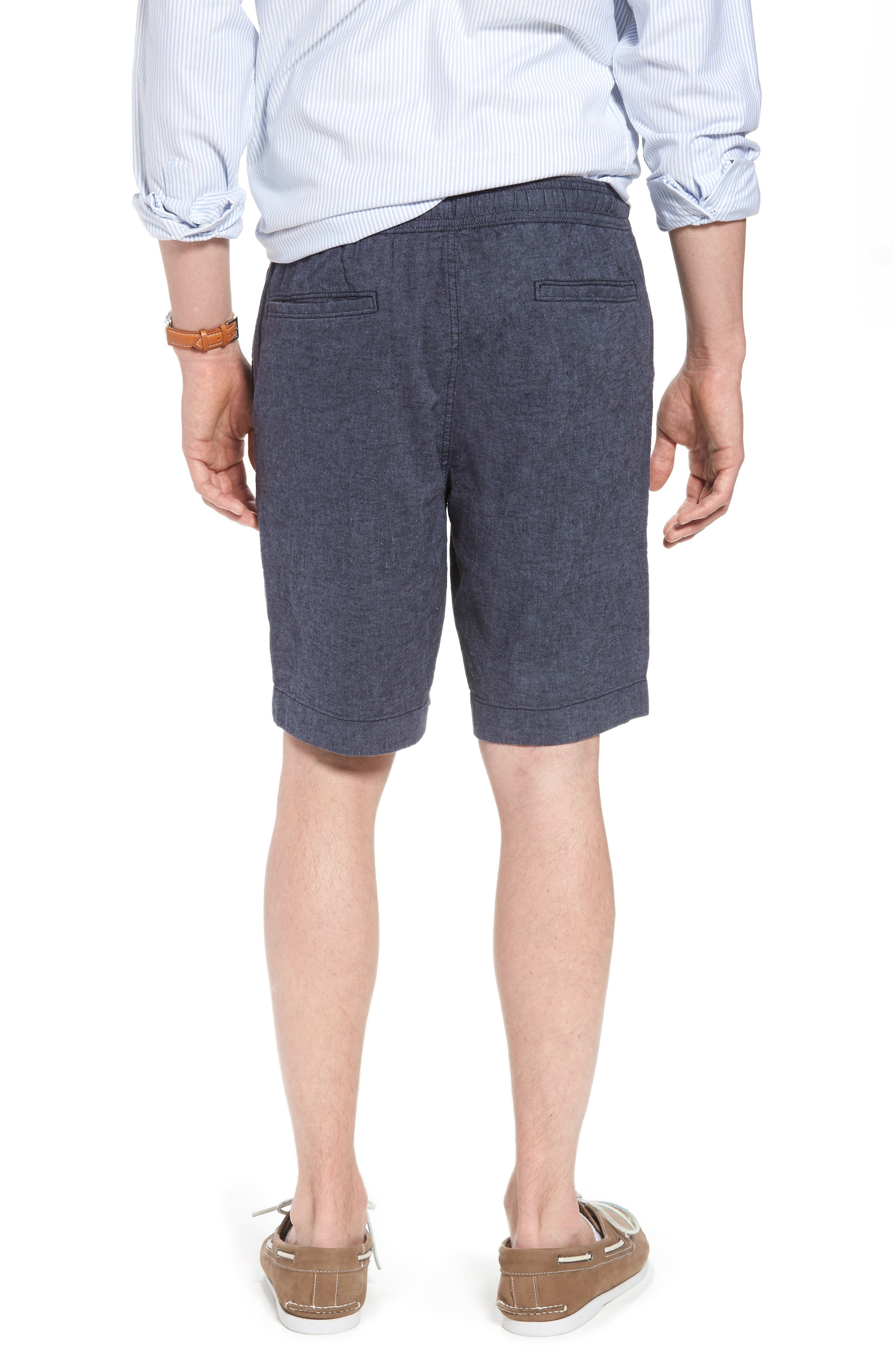 Drawstring Linen Blend Shorts,                             Alternate thumbnail 6, color,