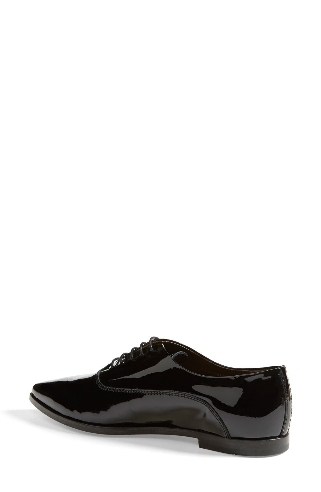 AGL,                             Attilio Giusti Leombruni Patent Leather Pointy Toe Oxford,                             Alternate thumbnail 6, color,                             001