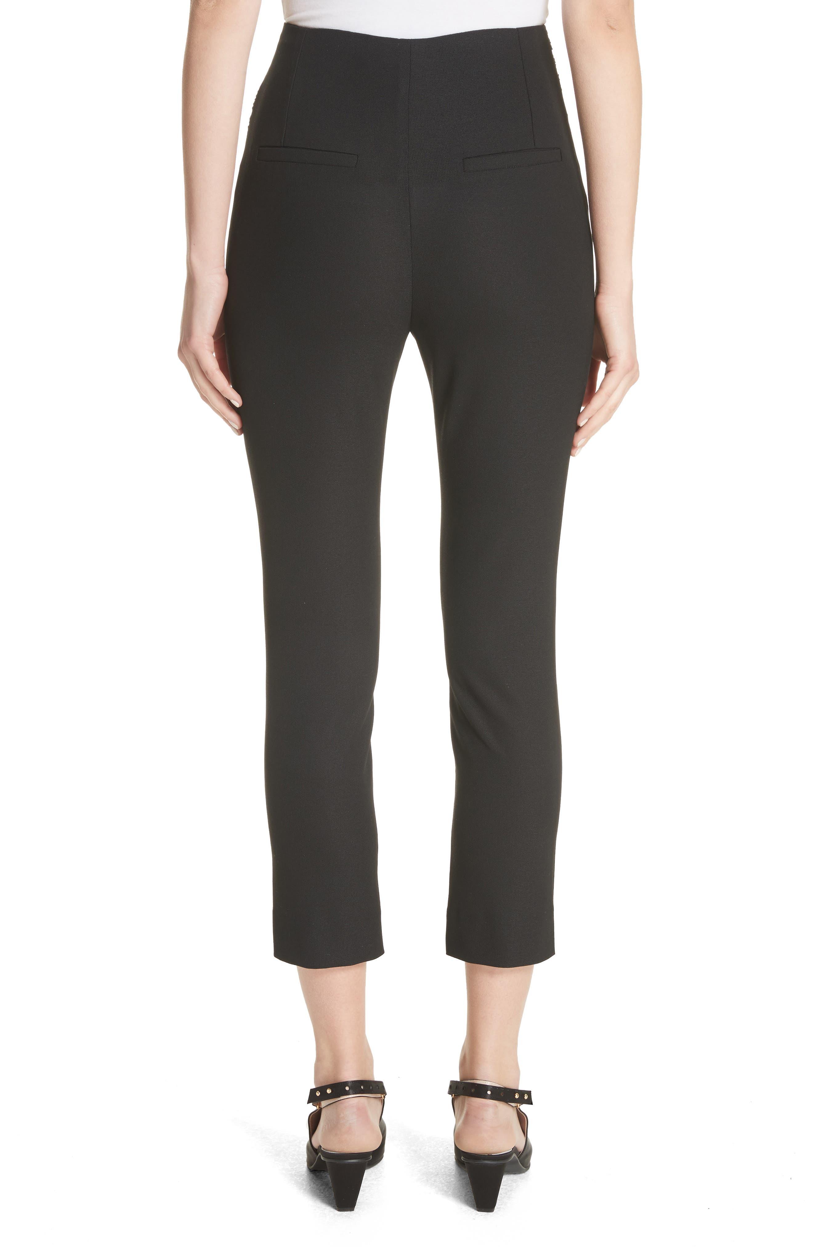 Le Corsaire Slim Crop Pants,                             Alternate thumbnail 2, color,                             001