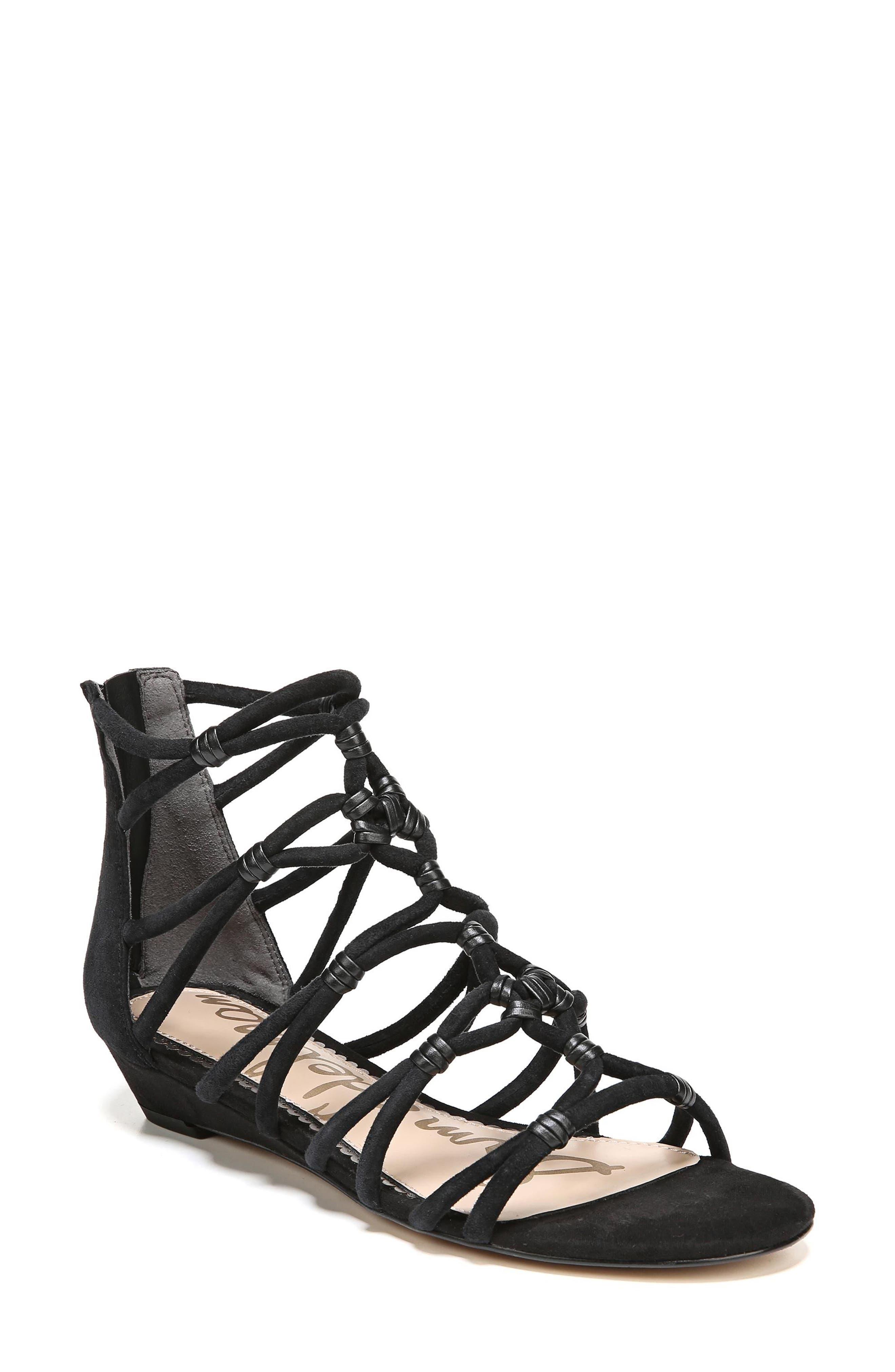 Daryn Sandal,                         Main,                         color, BLACK SUEDE