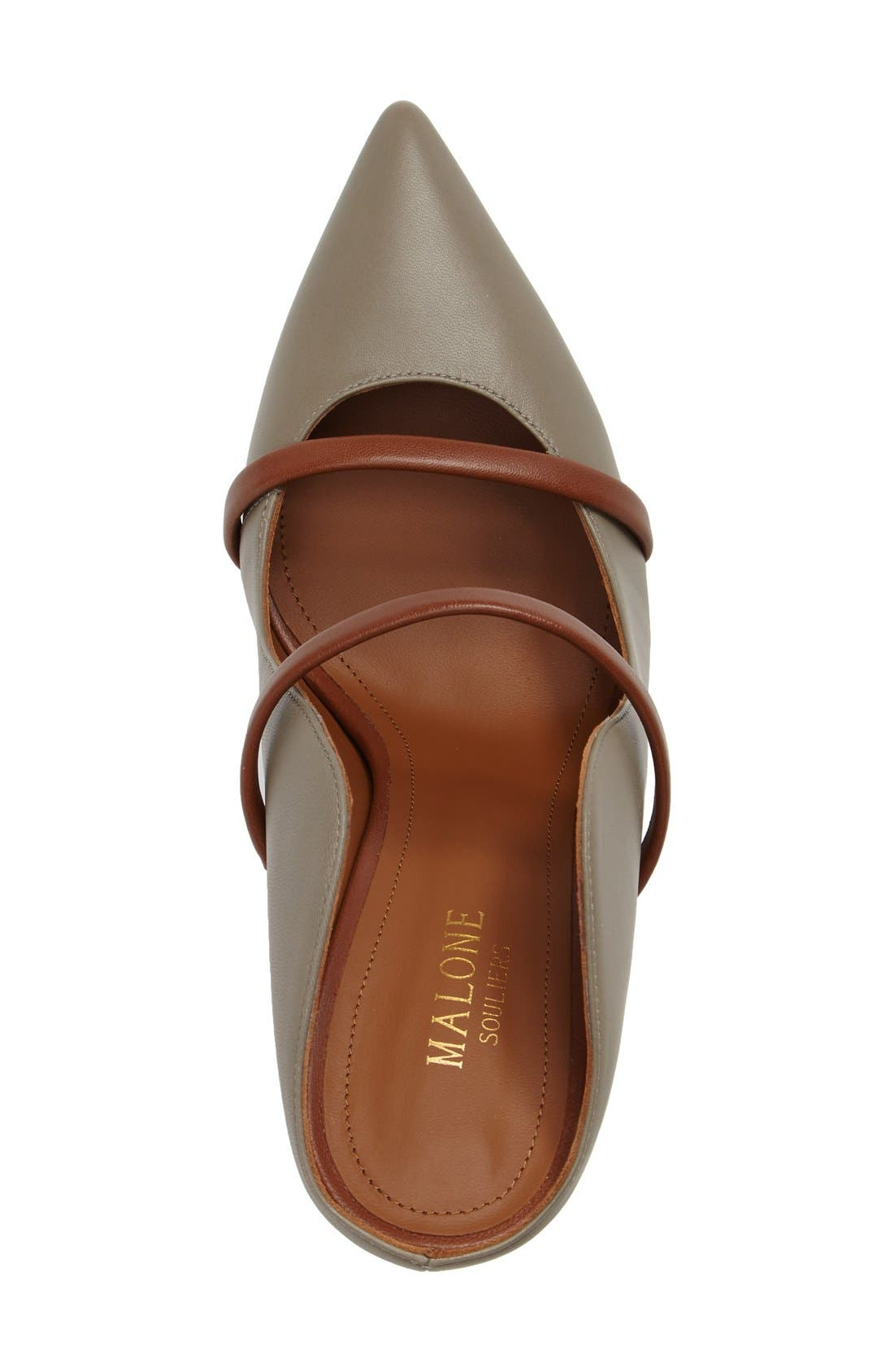 Malone Souliers 'Maureen' Pointy Toe Mule,                             Alternate thumbnail 5, color,                             025