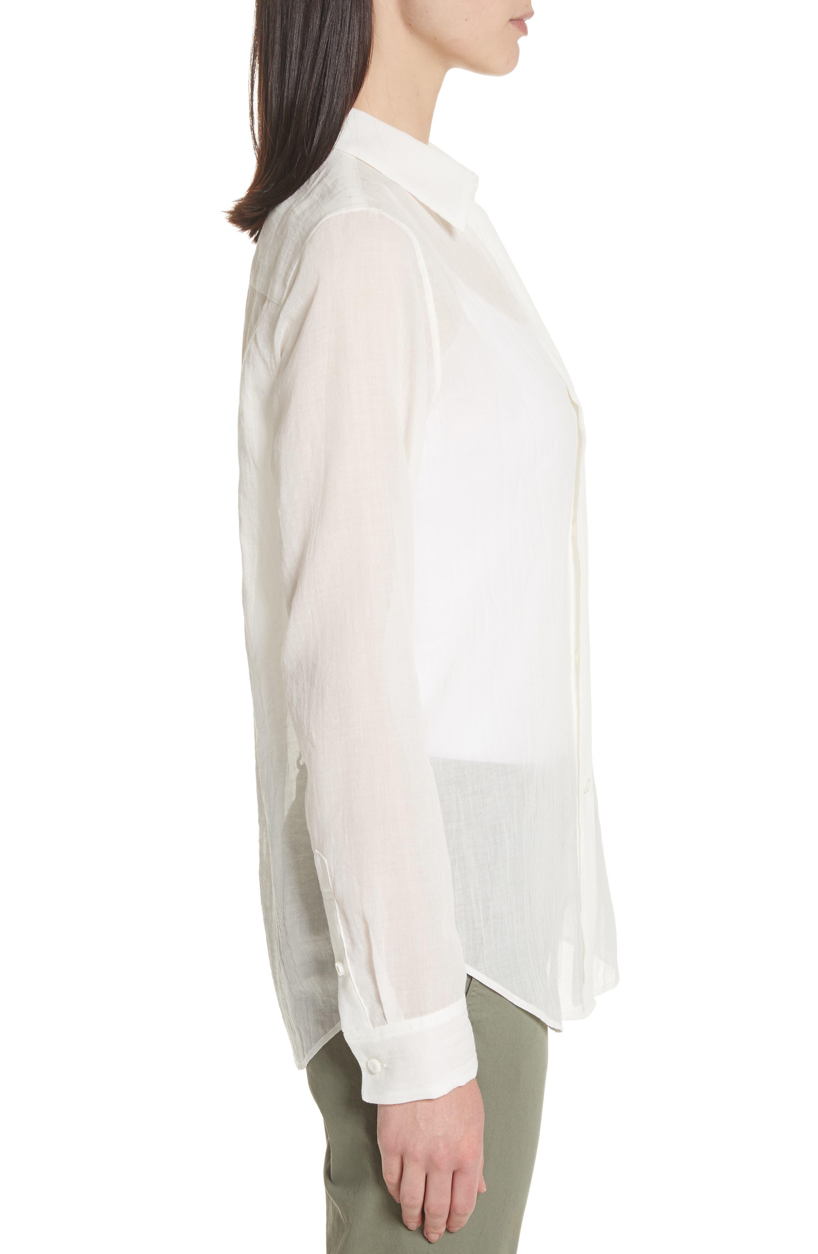 Essential Button-Down Cotton Shirt,                             Alternate thumbnail 6, color,