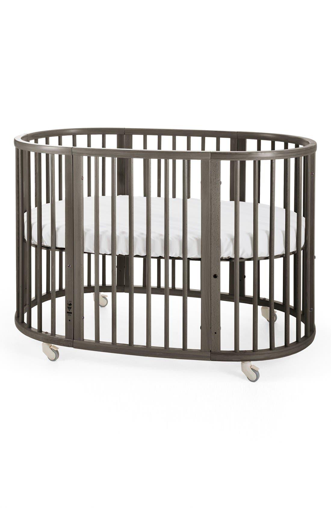 Convertible Sleepi Crib & Toddler Bed,                             Alternate thumbnail 4, color,                             HAZY GREY