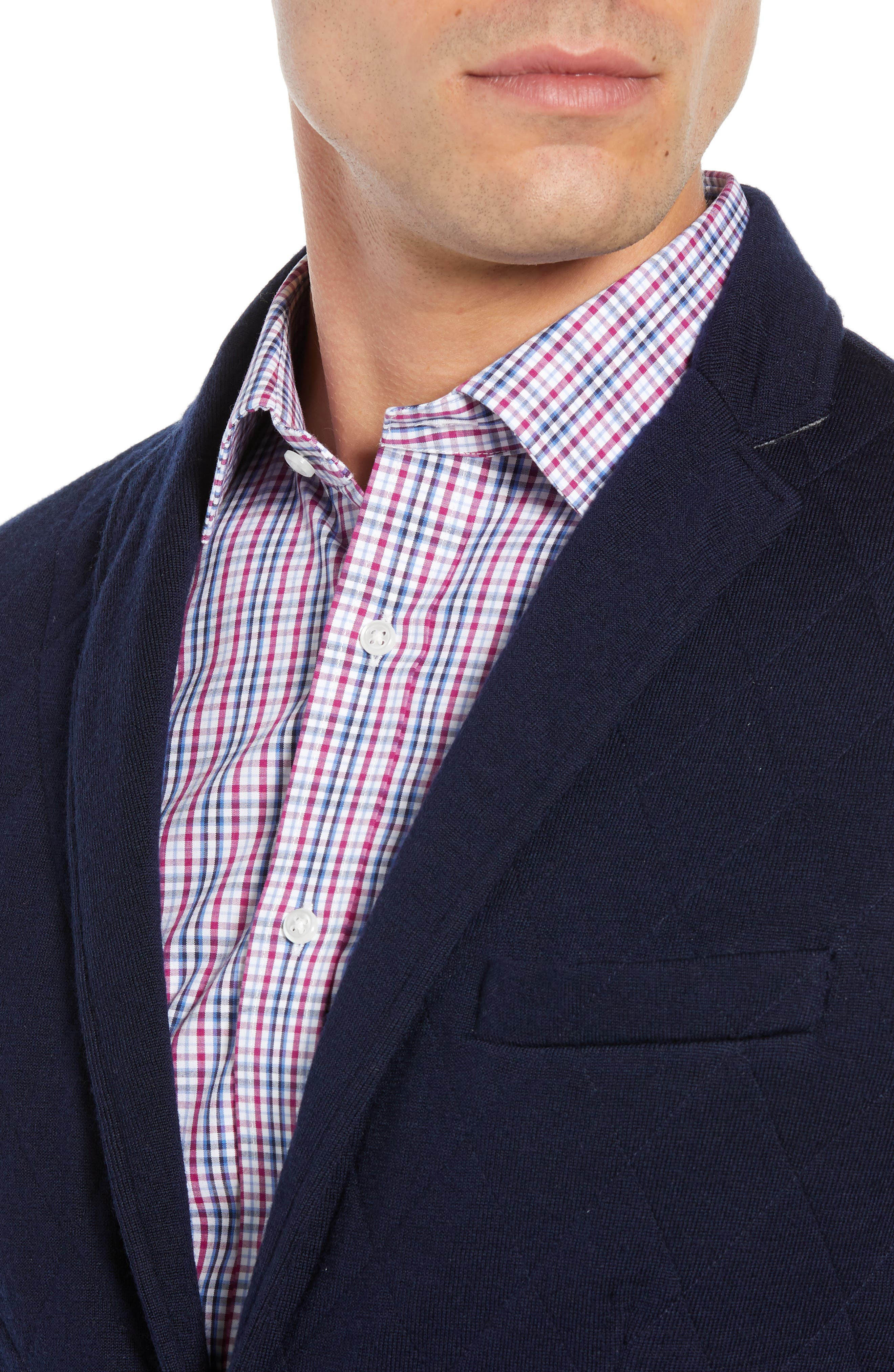 Nordic Knit Regular Fit Blazer,                             Alternate thumbnail 4, color,                             440