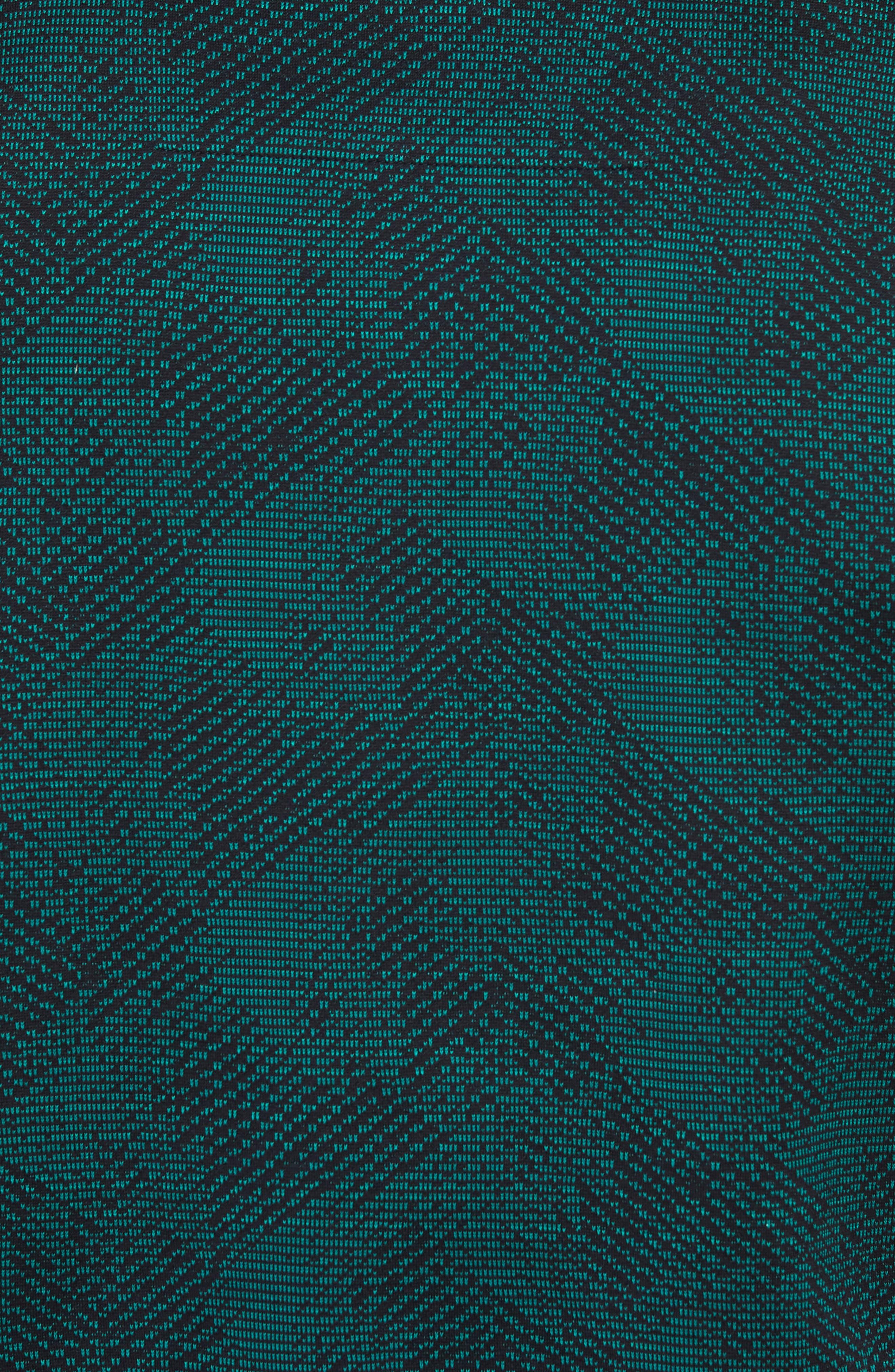 Pitton Slim Fit Jacquard Polo,                             Alternate thumbnail 5, color,                             GREEN