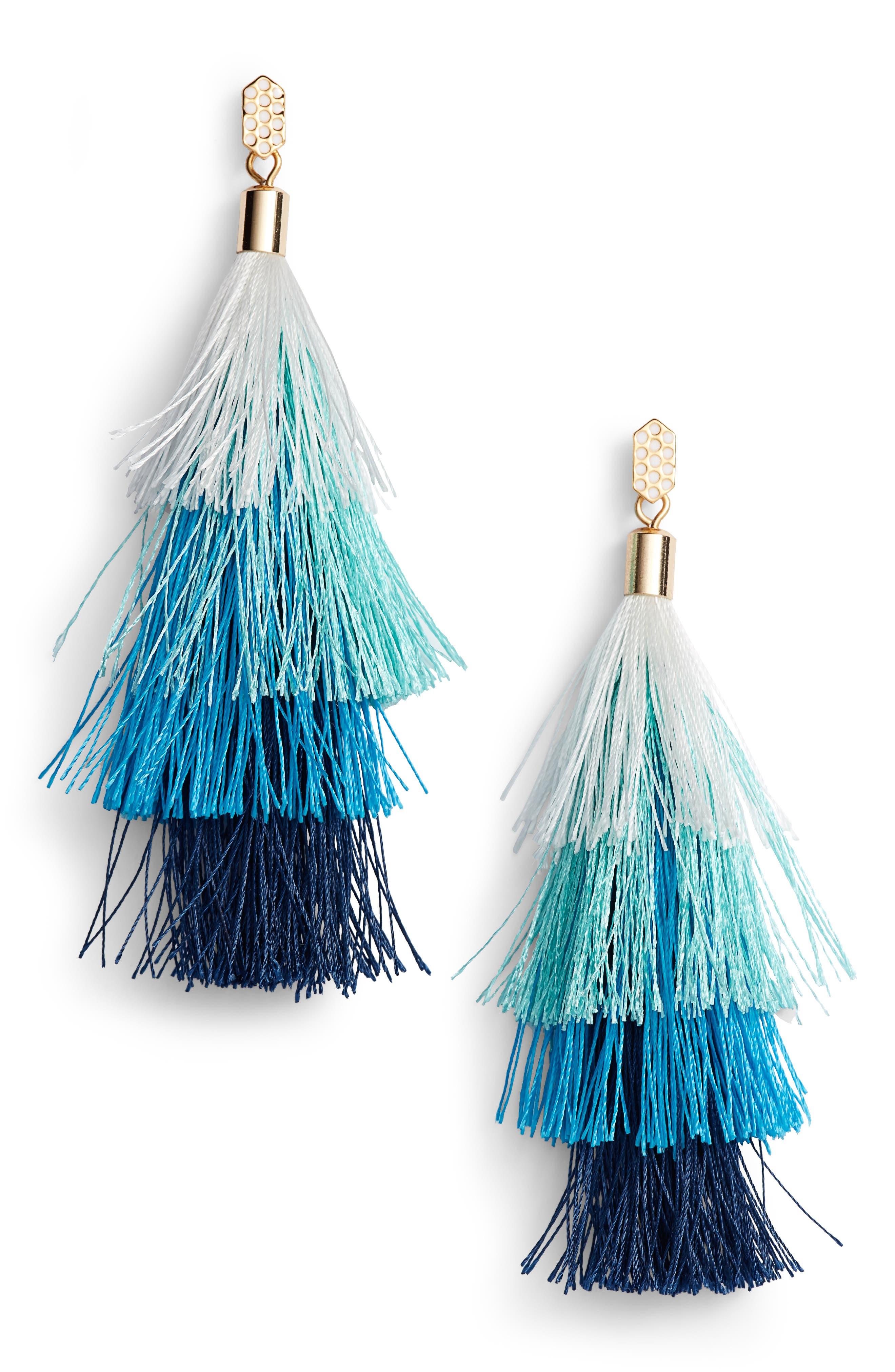 Stacked Tassel Earrings,                         Main,                         color, 439