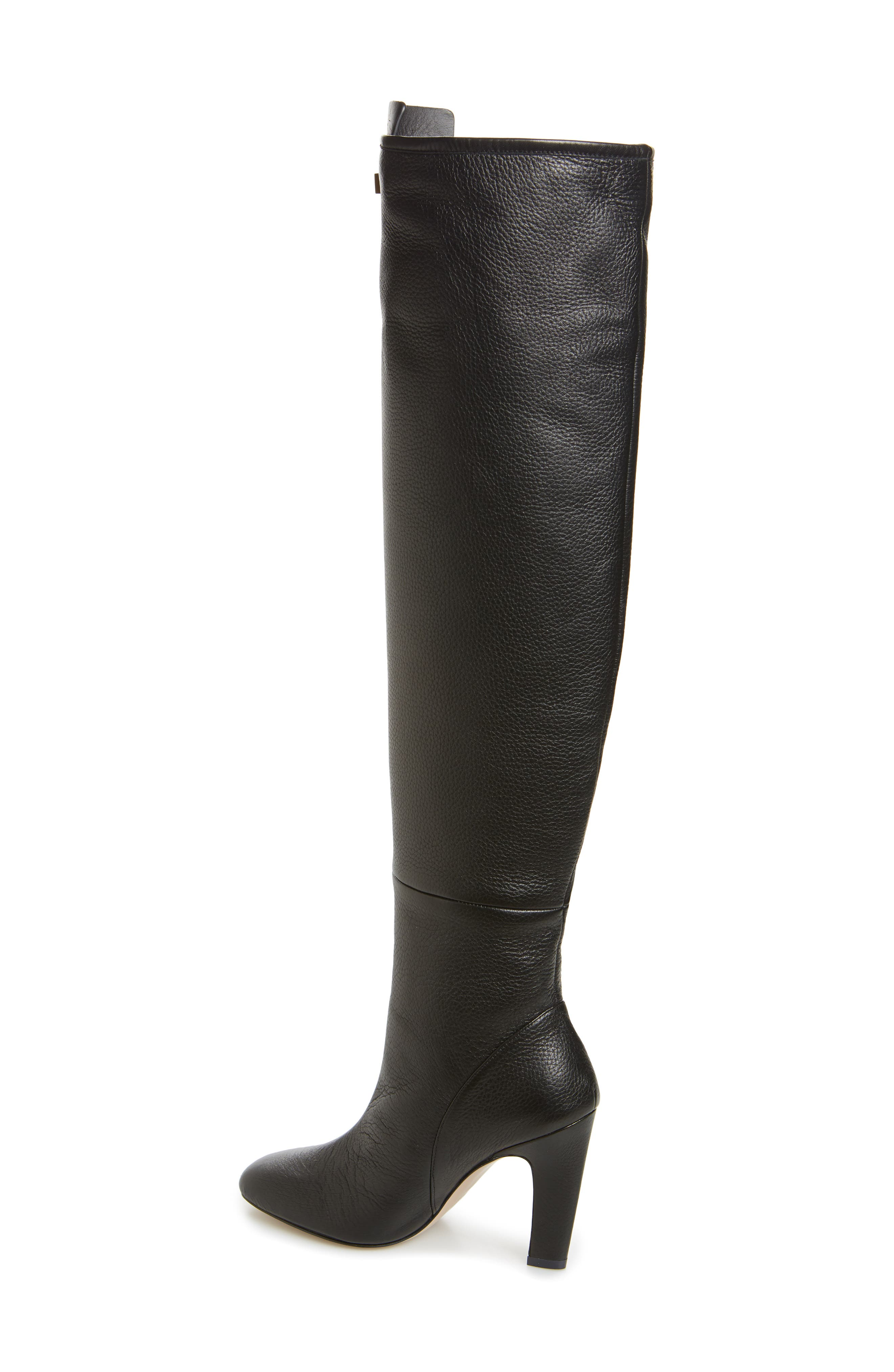Edie Over the Knee Boot,                             Alternate thumbnail 2, color,                             PITCH BLACK GHENTO