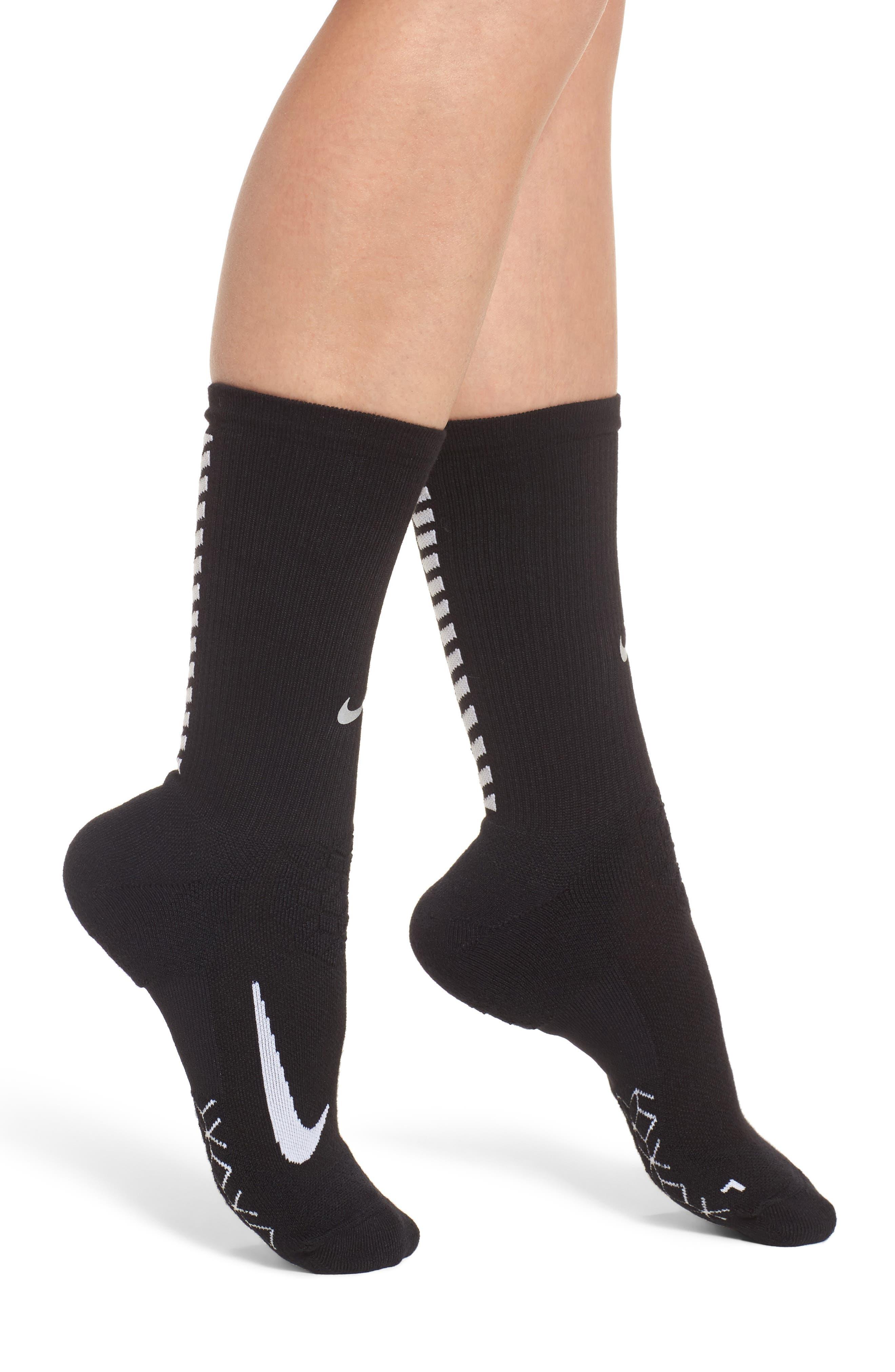 Elite Cushioned Running Crew Socks,                         Main,                         color, 010