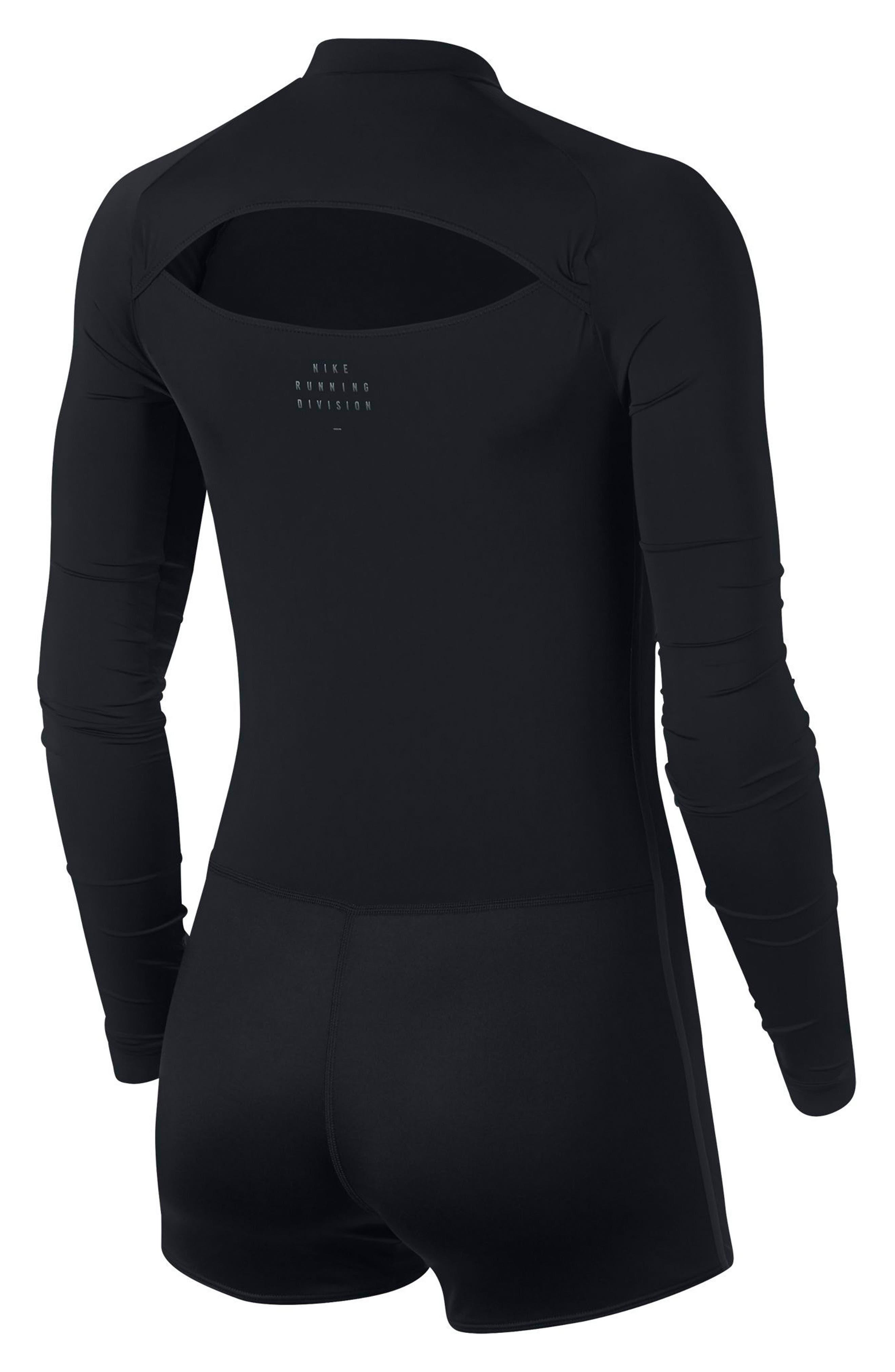 Running Division Women's Running Bodysuit,                             Alternate thumbnail 2, color,                             BLACK/ REFLECT BLACK