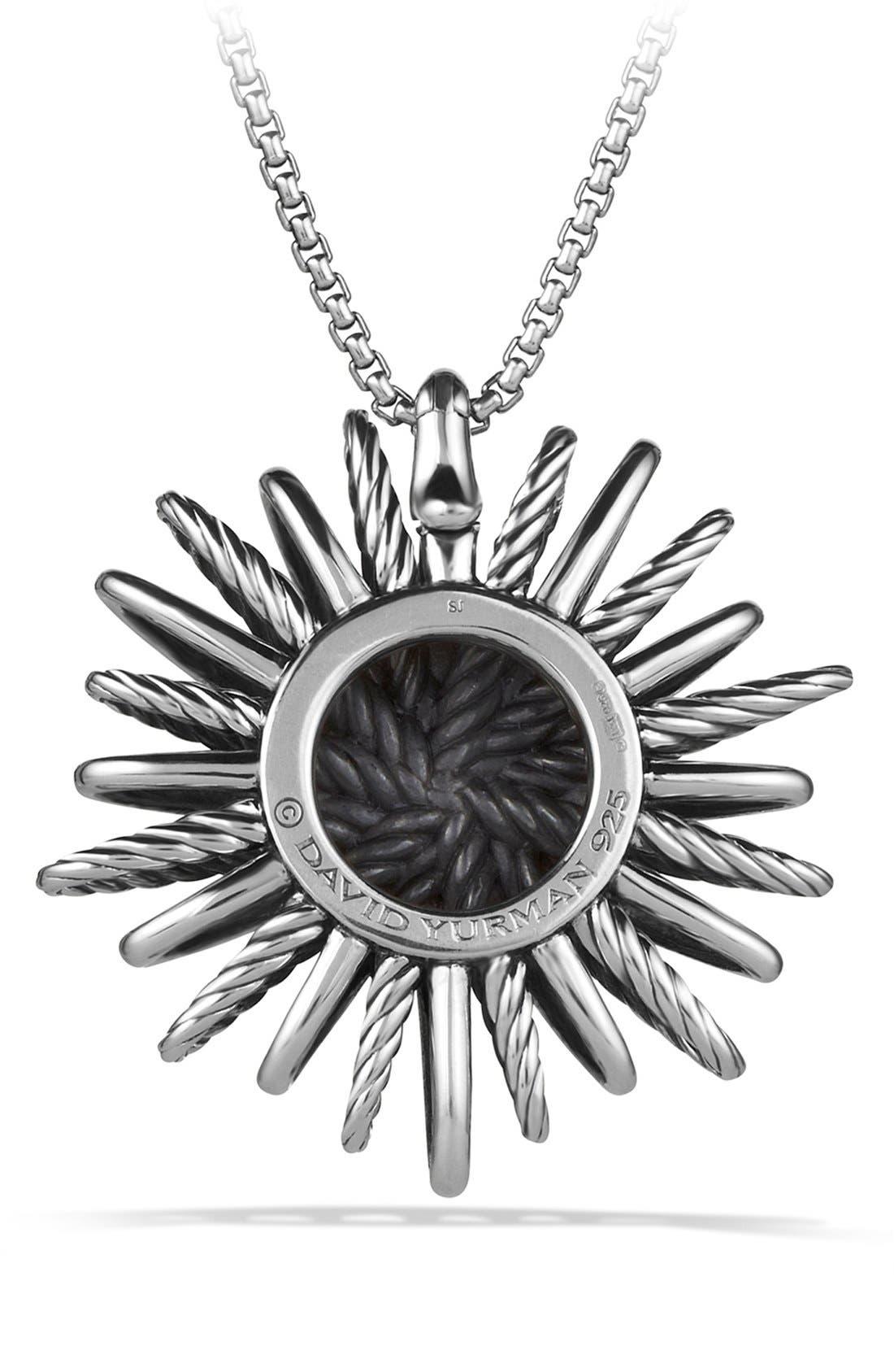 'Starburst' Large Pendant with Diamonds on Chain,                             Alternate thumbnail 4, color,                             DIAMOND