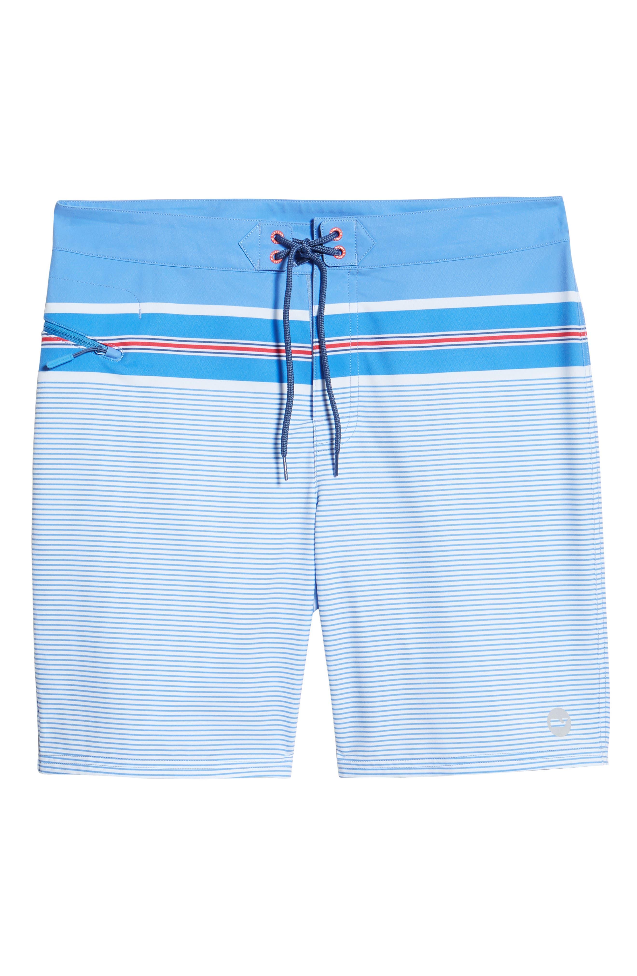 VINEYARD VINES,                             Birchcliff Stripe Board Shorts,                             Alternate thumbnail 6, color,                             484