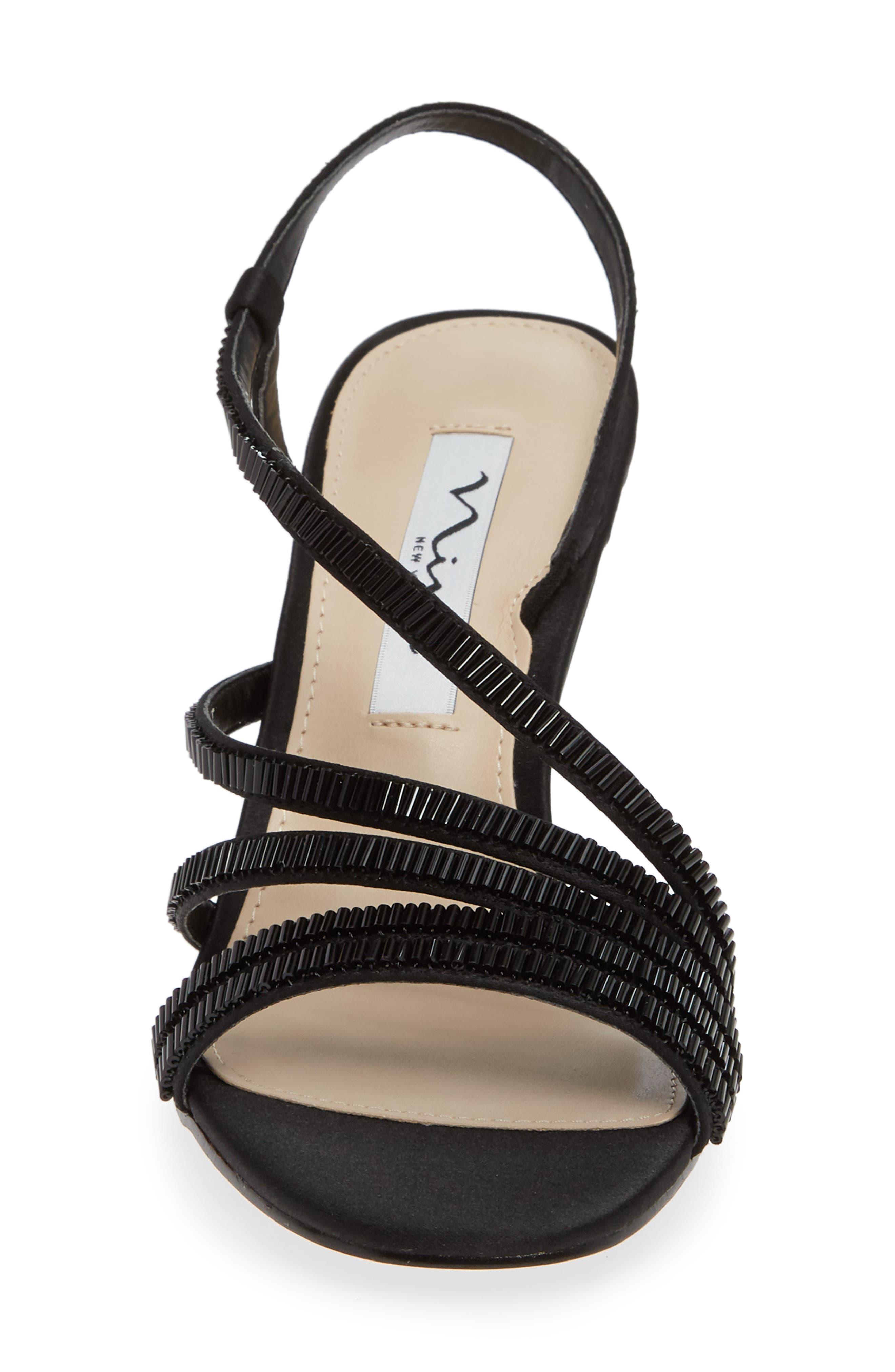 Amani Asymmetrical Strappy Slingback Sandal,                             Alternate thumbnail 4, color,                             003