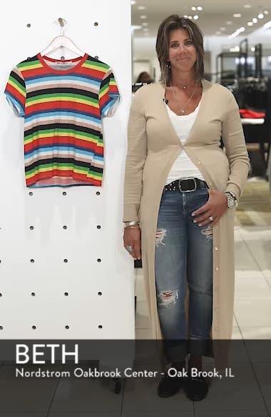 Rainbow Stripe Ringer Tee, sales video thumbnail