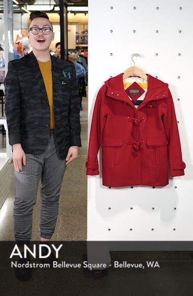 Roslyn Waterproof Lambswool Blend Hooded Coat, sales video thumbnail