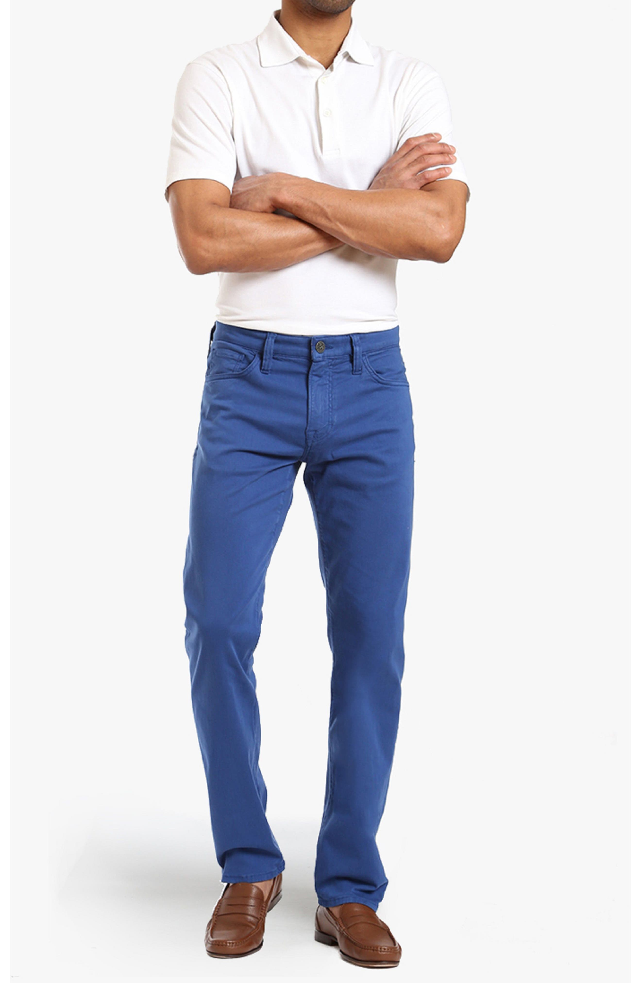 Courage Straight Leg Twill Pants,                             Alternate thumbnail 4, color,                             BLUE