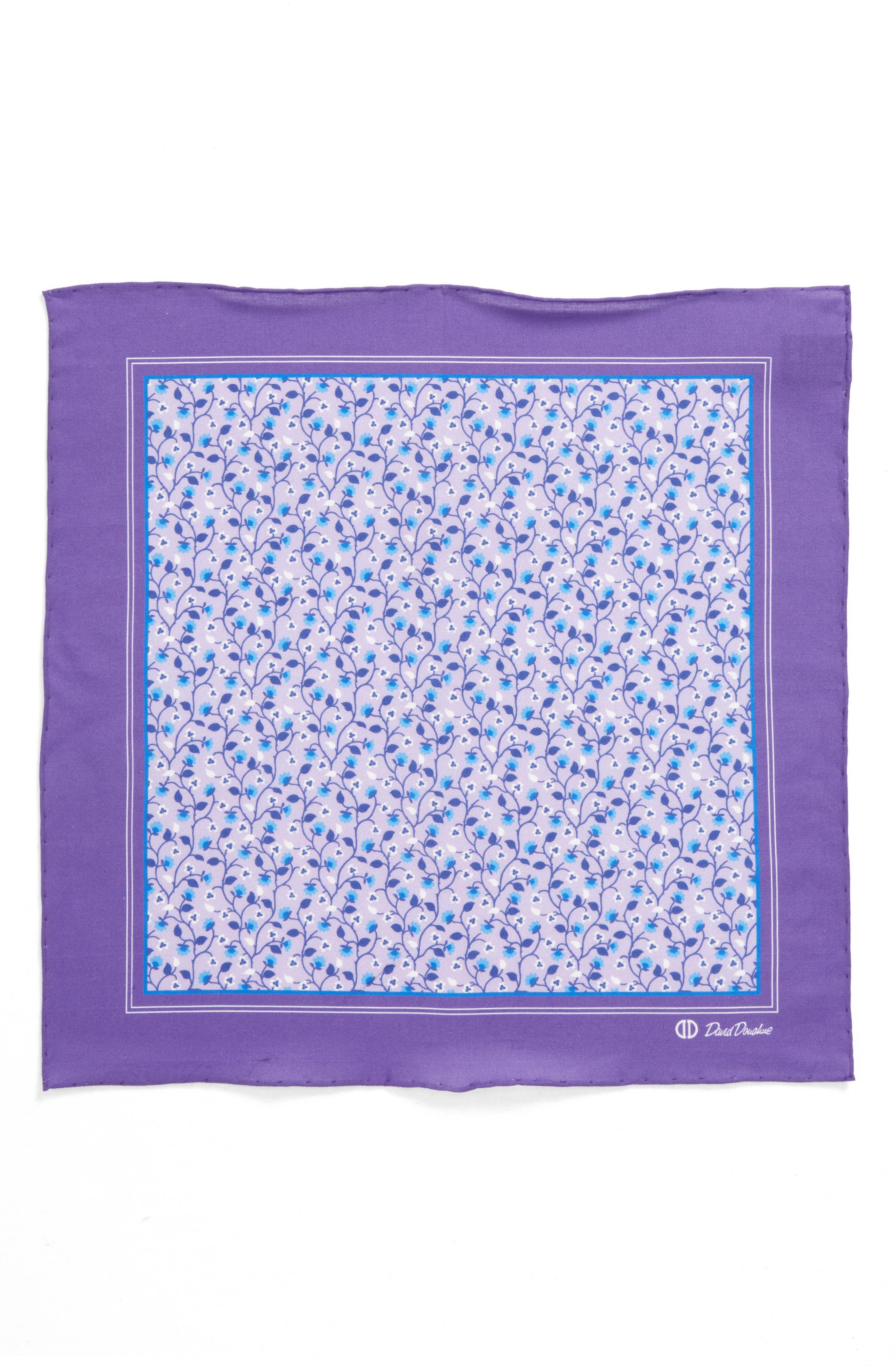 Floral Cotton Pocket Square,                             Alternate thumbnail 2, color,                             500