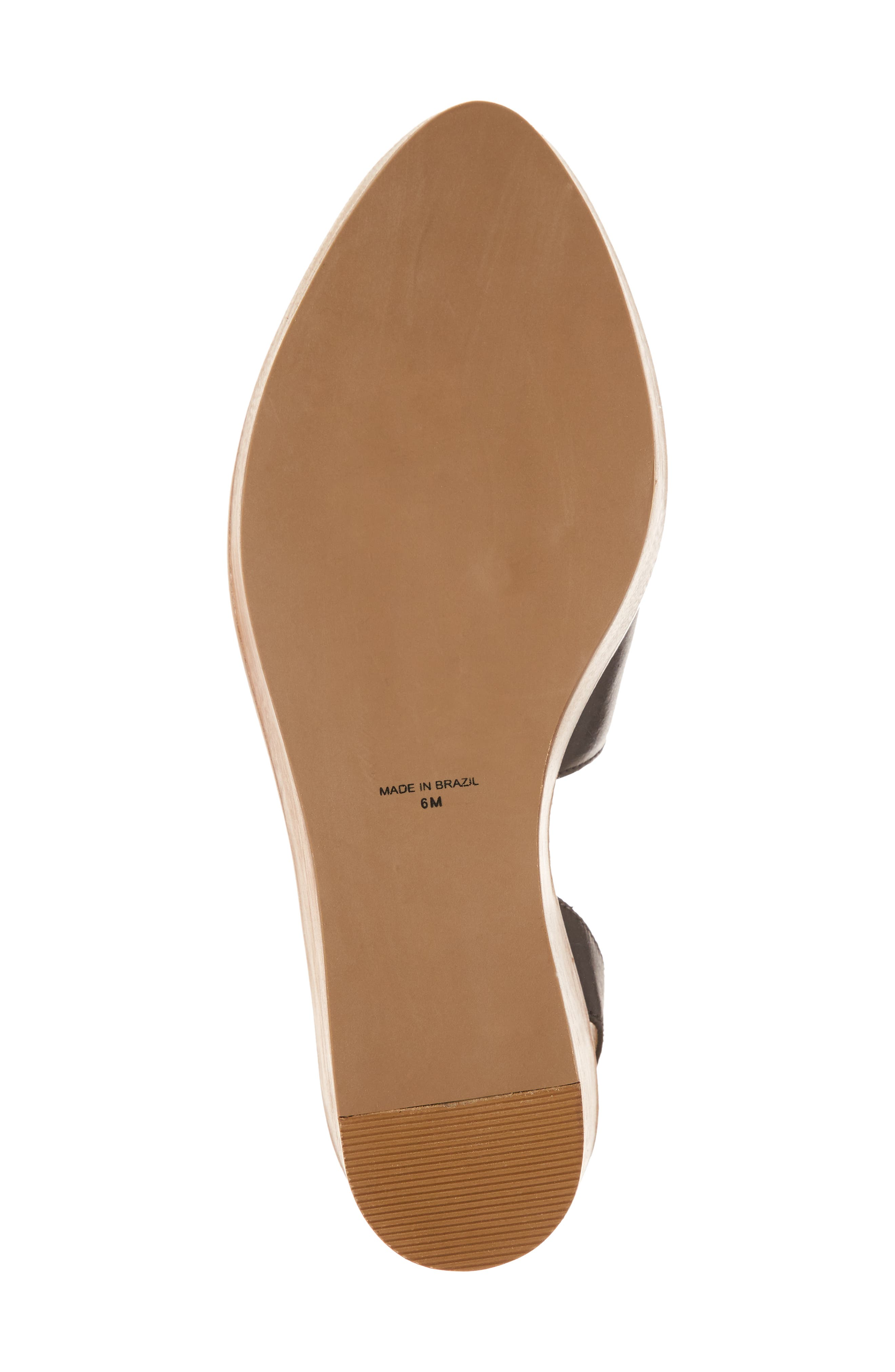 Eyals Slingback Platform Wedge Sandal,                             Alternate thumbnail 6, color,                             BLACK LEATHER