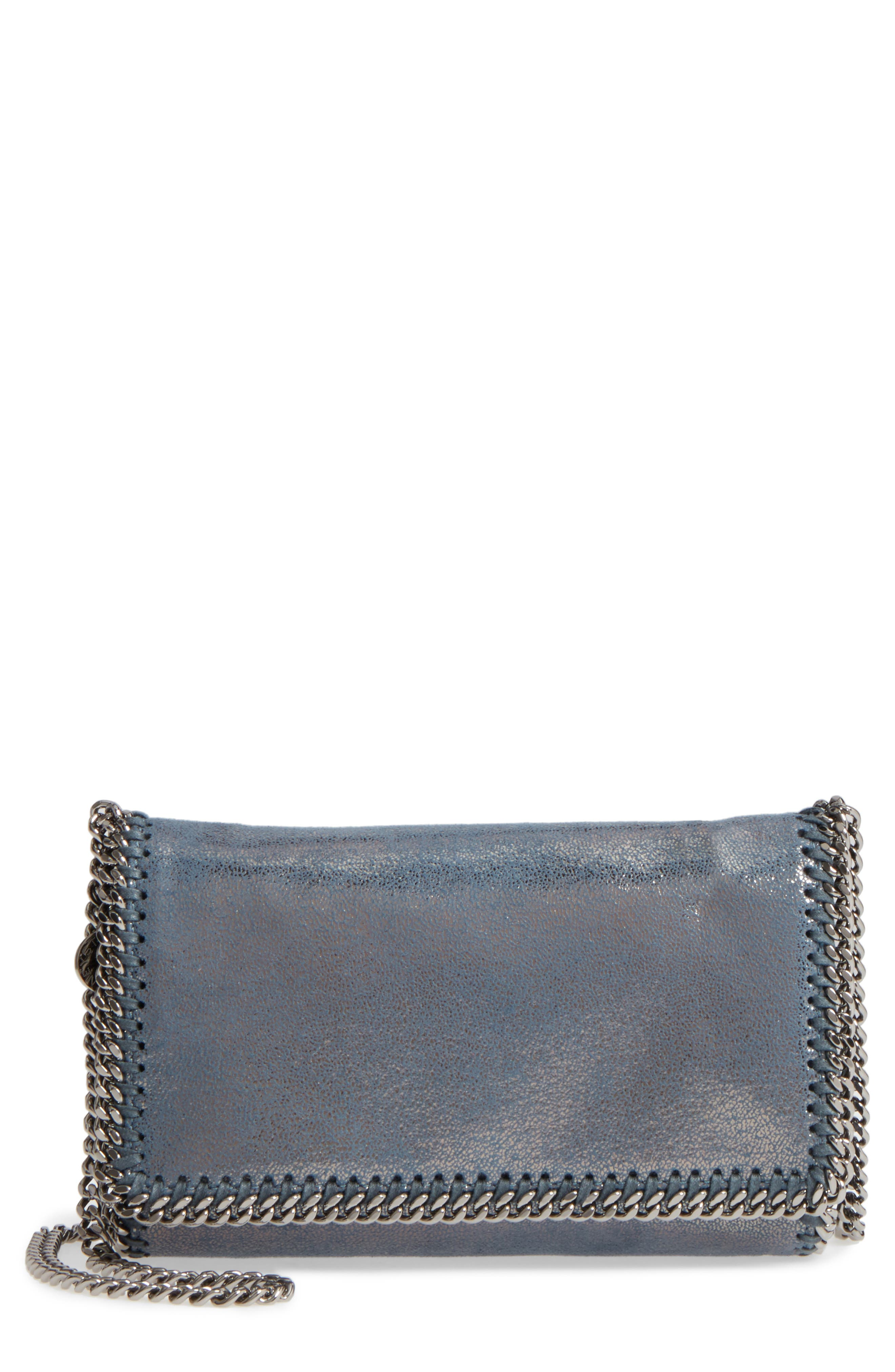 Falabella Shaggy Deer Faux Leather Clutch,                         Main,                         color, 400