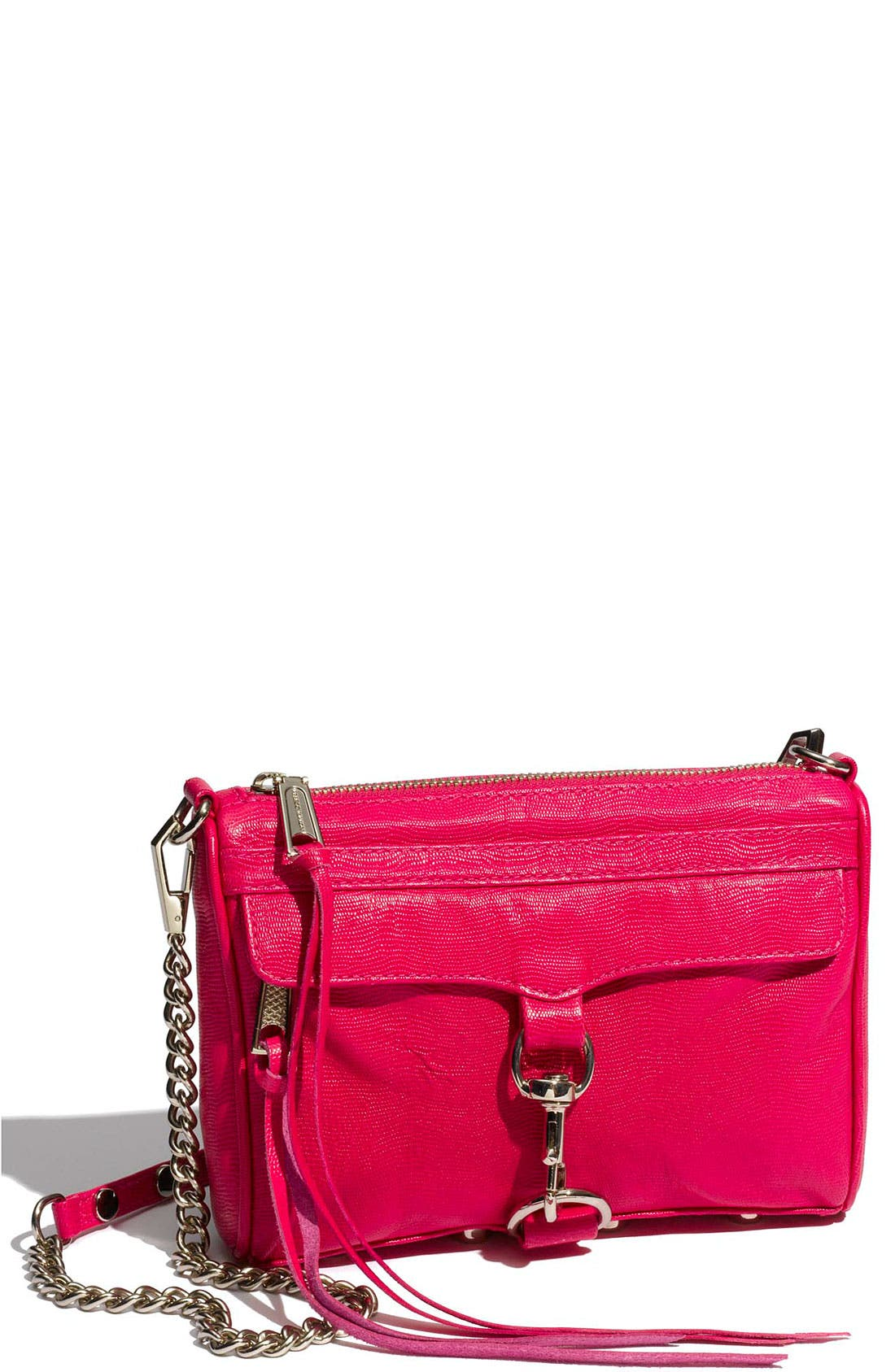 'Mini MAC' Croc Embossed Convertible Crossbody Bag,                             Main thumbnail 17, color,