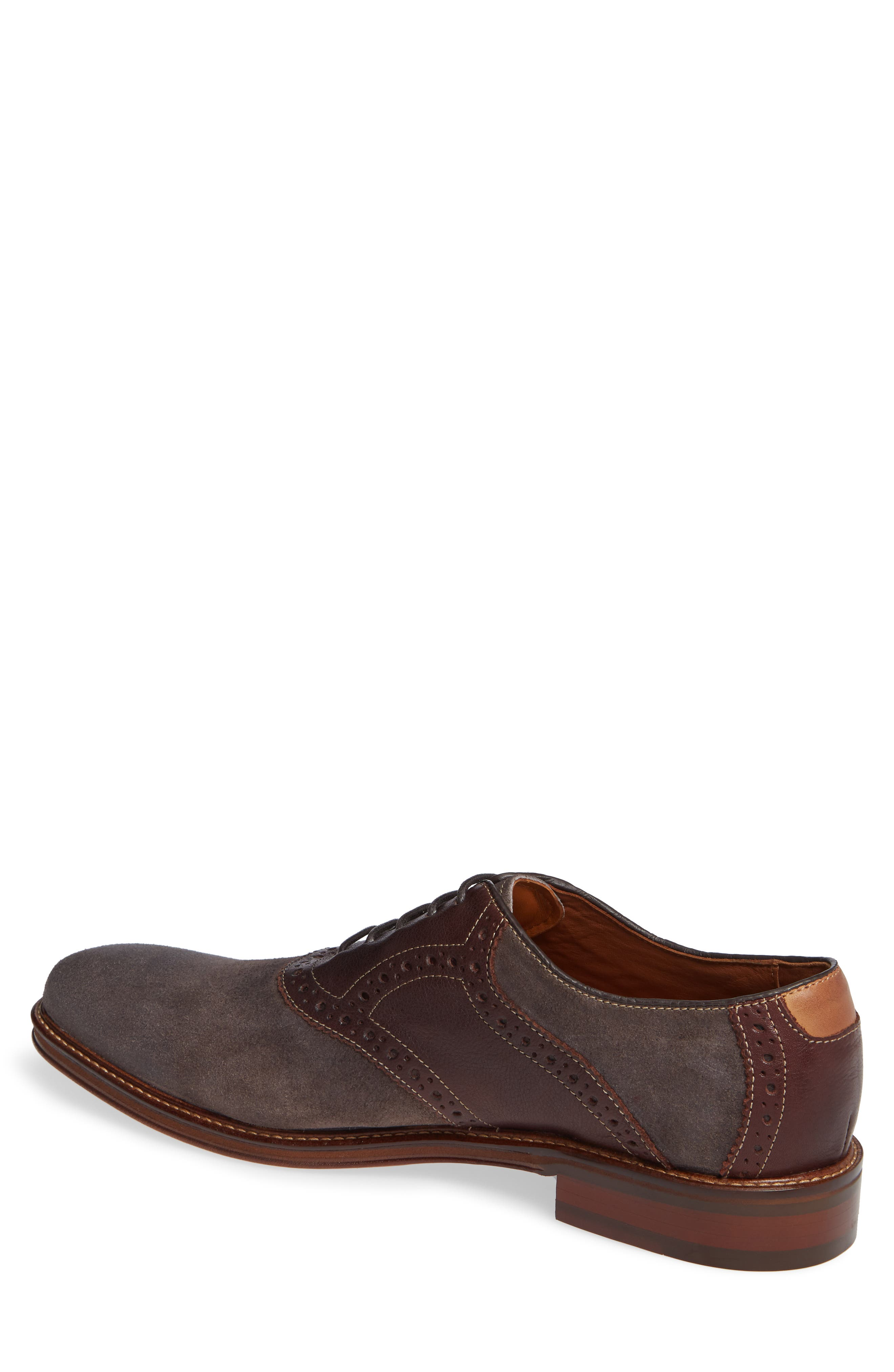 Warner Saddle Shoe,                             Alternate thumbnail 2, color,                             DARK GREY SUEDE