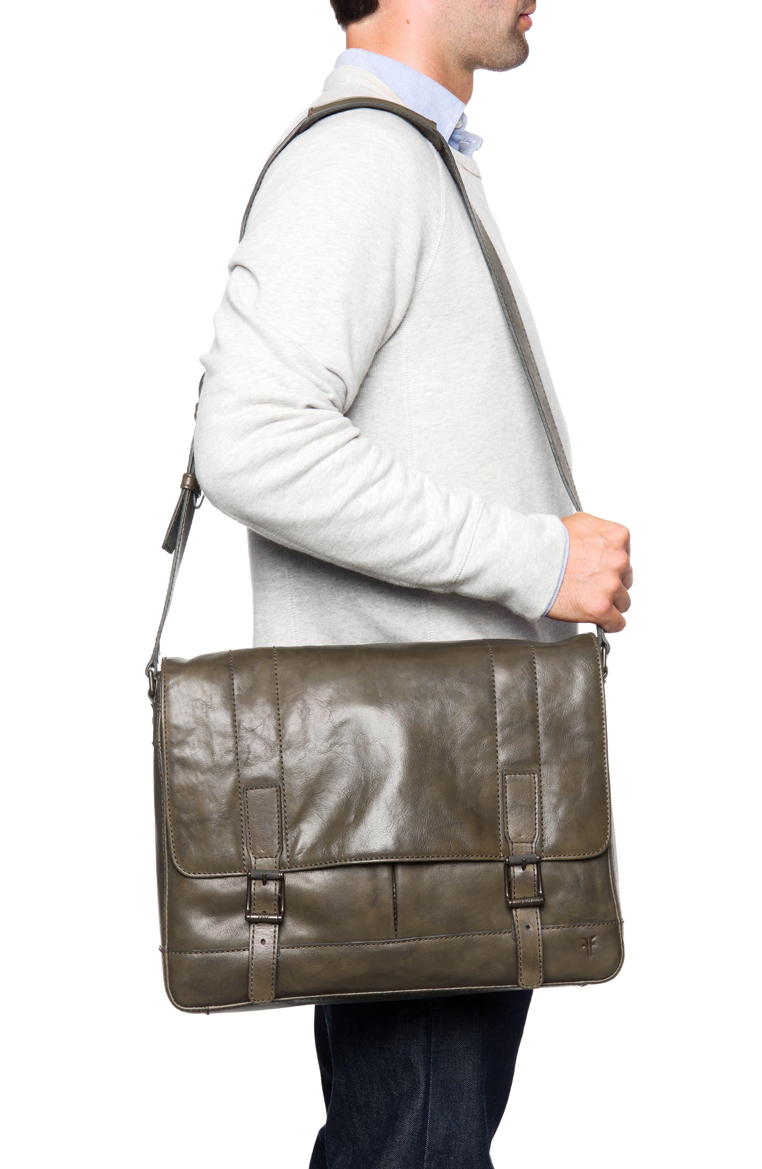 'Oliver' Leather Messenger Bag,                             Alternate thumbnail 2, color,                             311