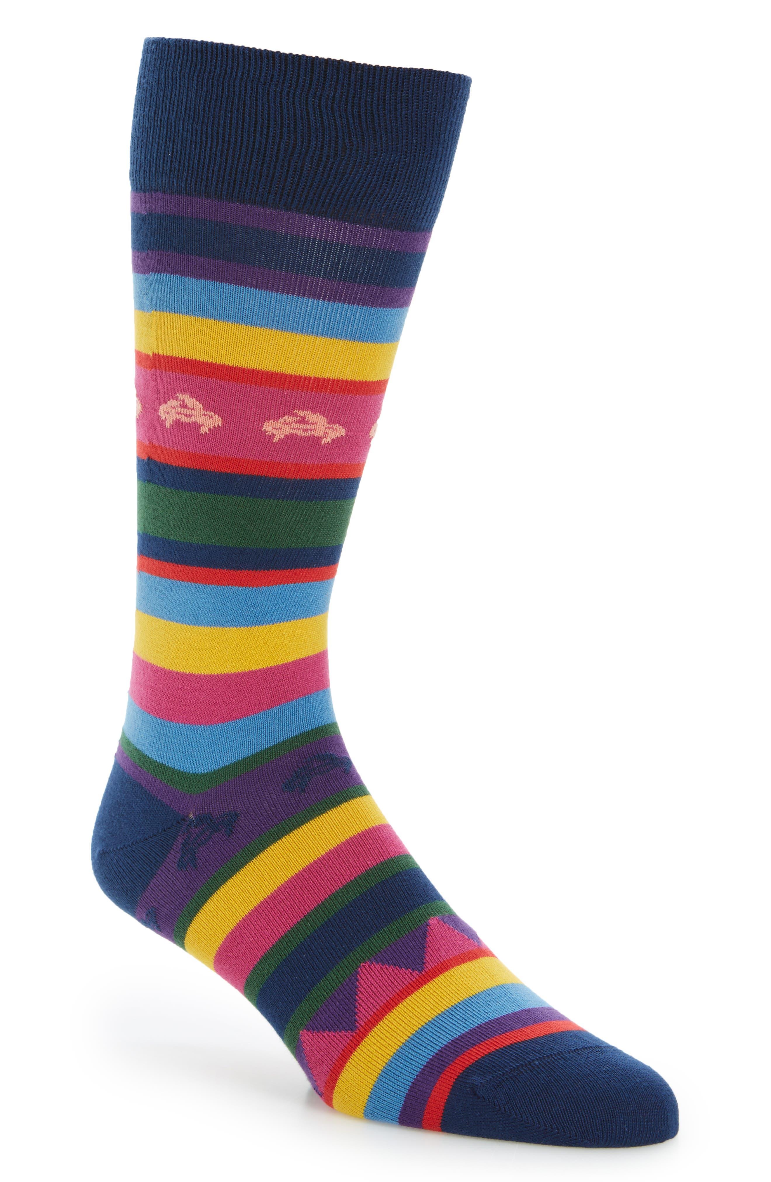 Crab Stripe Socks,                         Main,                         color, 415