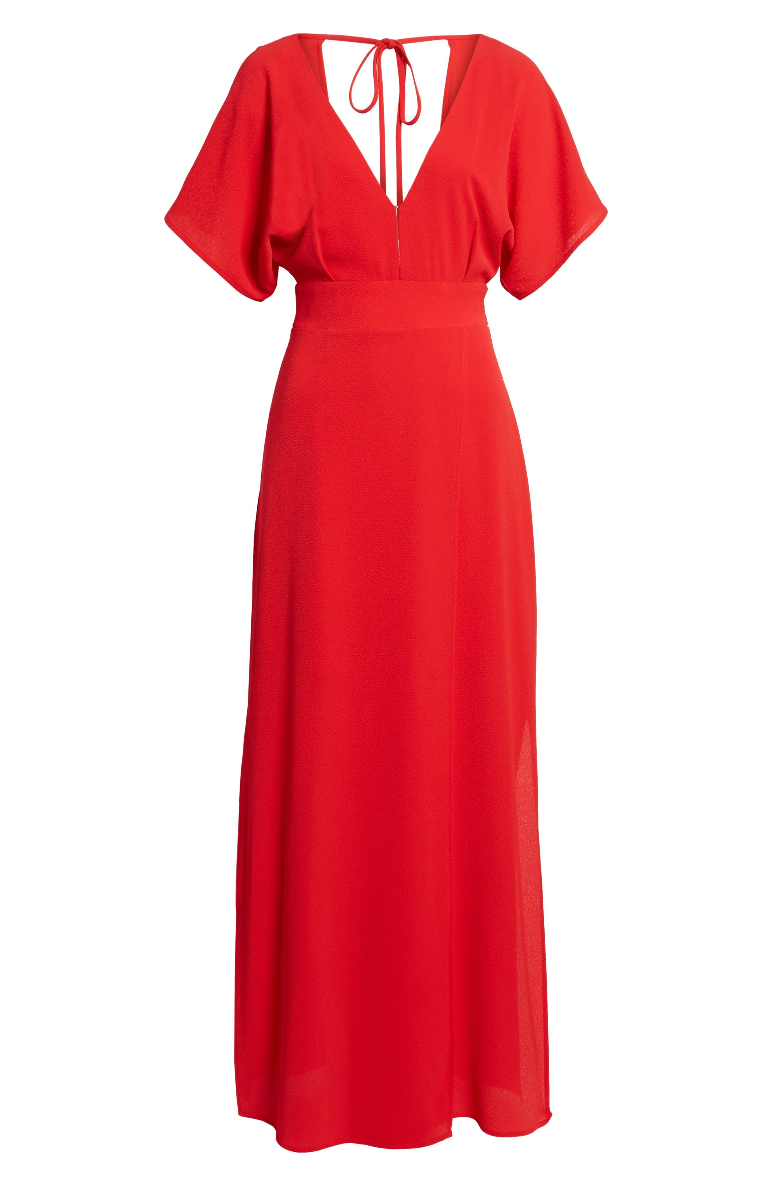 Carrara Slit Maxi Dress,                             Alternate thumbnail 12, color,