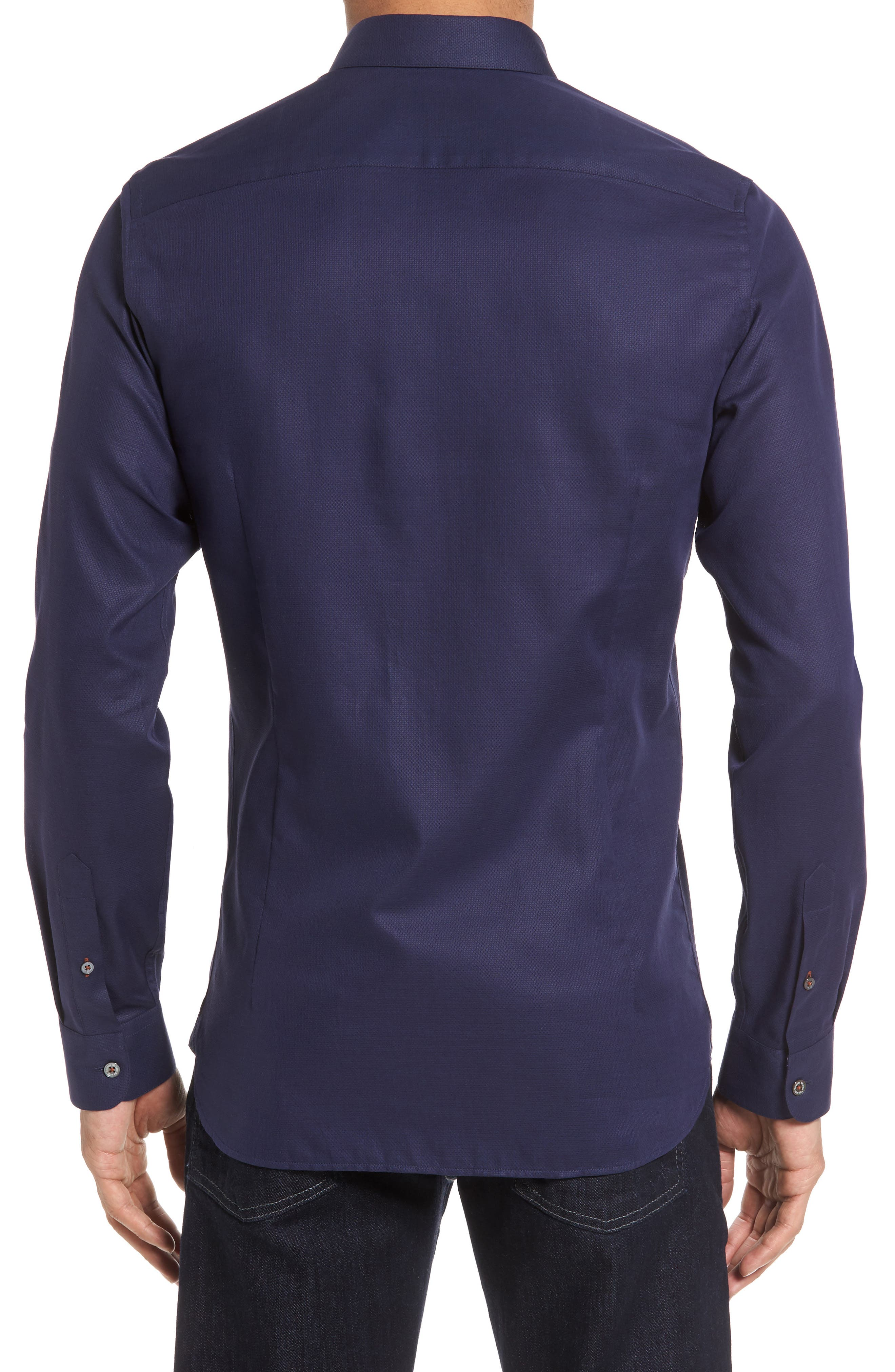 Nordlux Modern Slim Fit Stretch Cotton Sport Shirt,                             Alternate thumbnail 8, color,