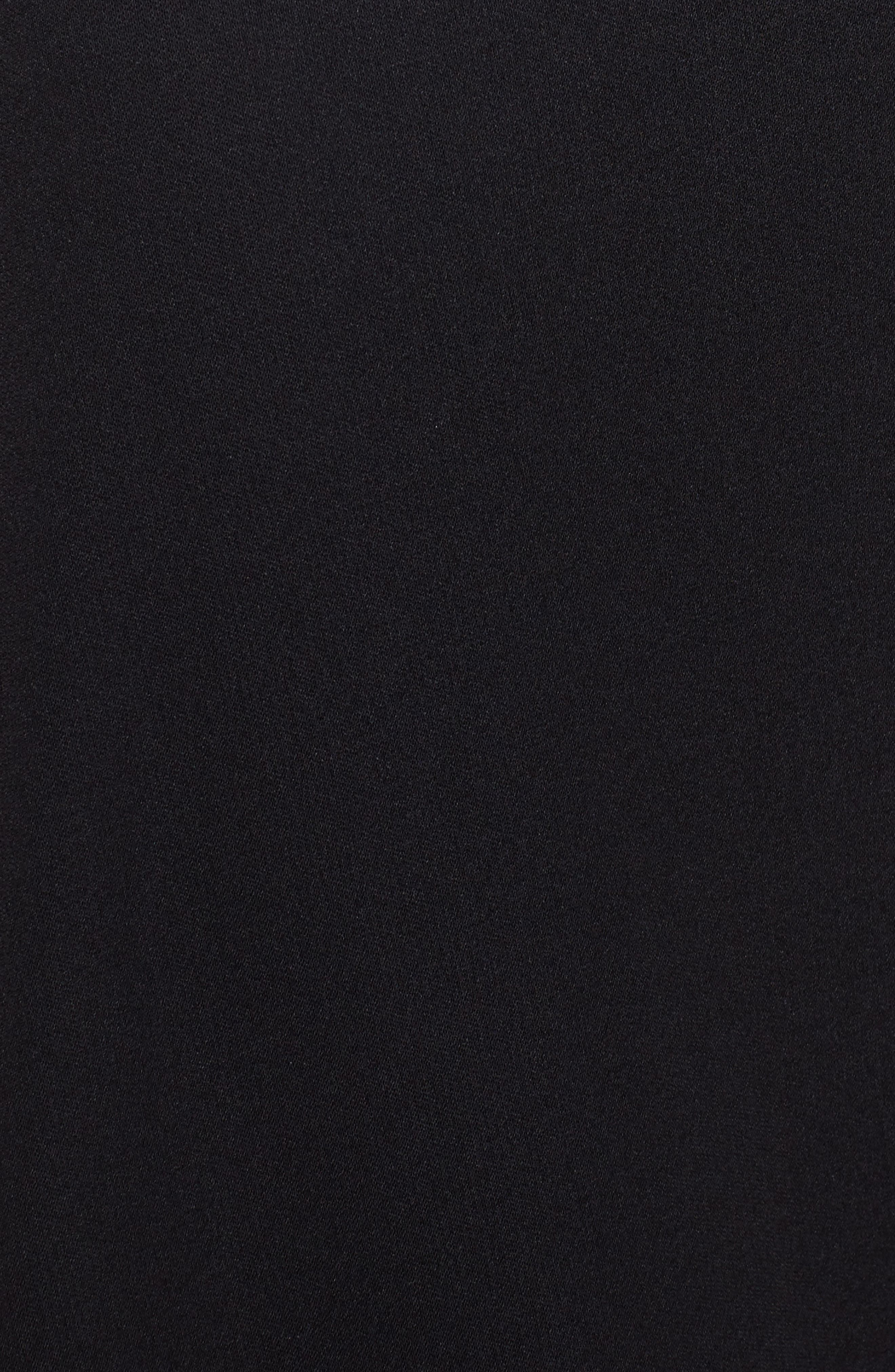 Jersey Wrap Dress,                             Alternate thumbnail 5, color,                             RICH BLACK
