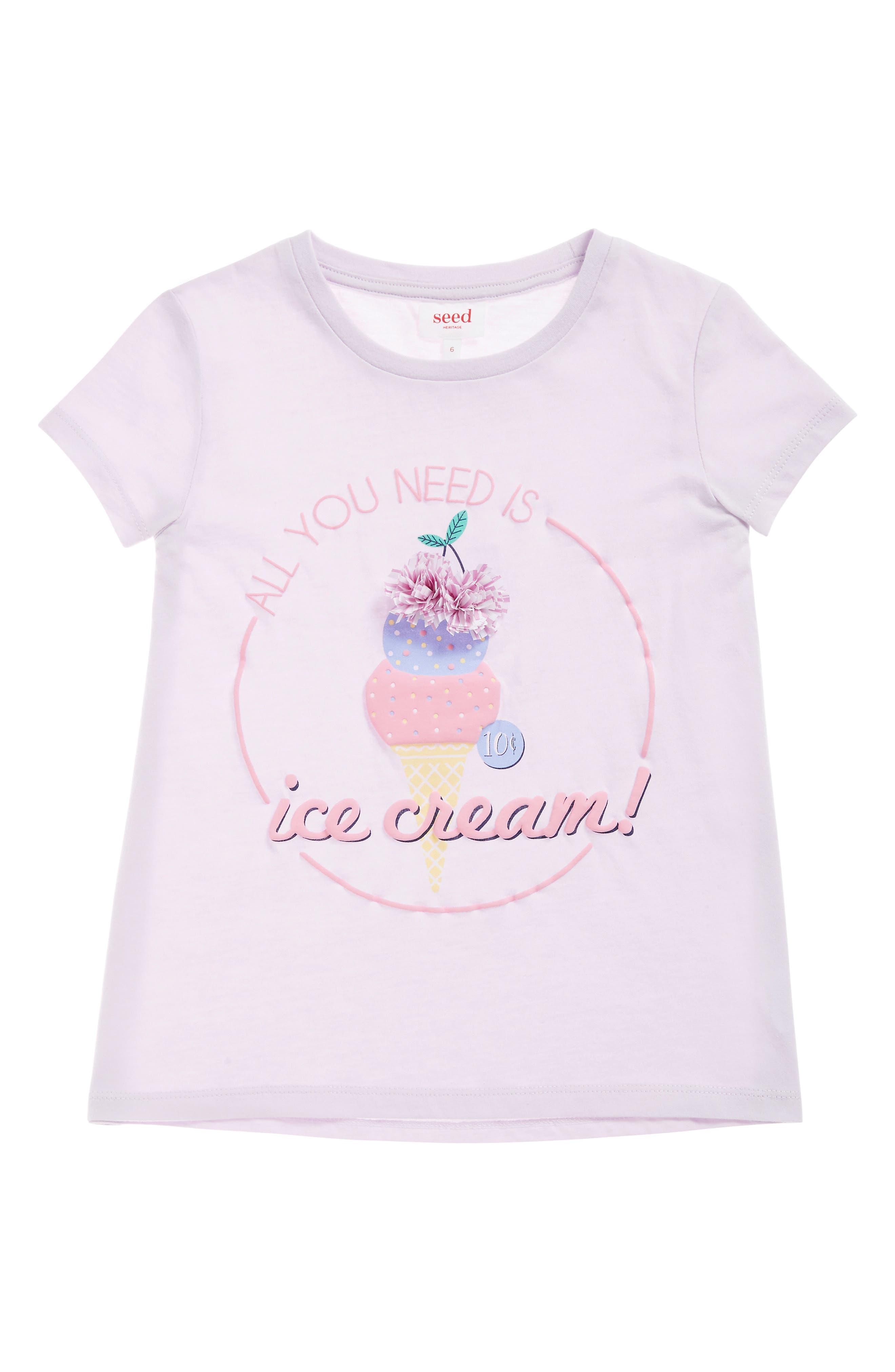 Ice Cream Tee,                             Main thumbnail 1, color,                             LILAC