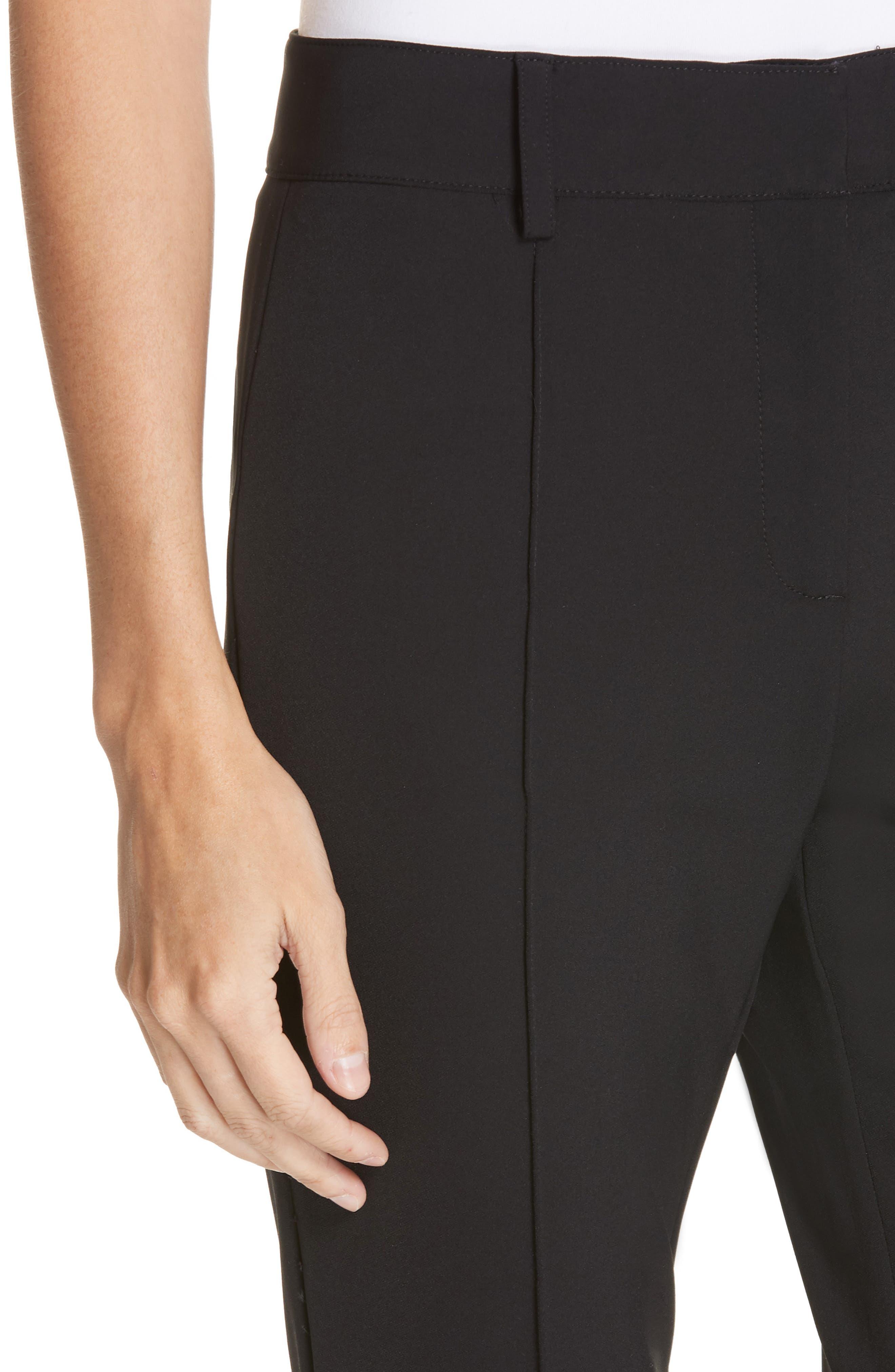 Hibiscus Flare Pants,                             Alternate thumbnail 4, color,                             BLACK