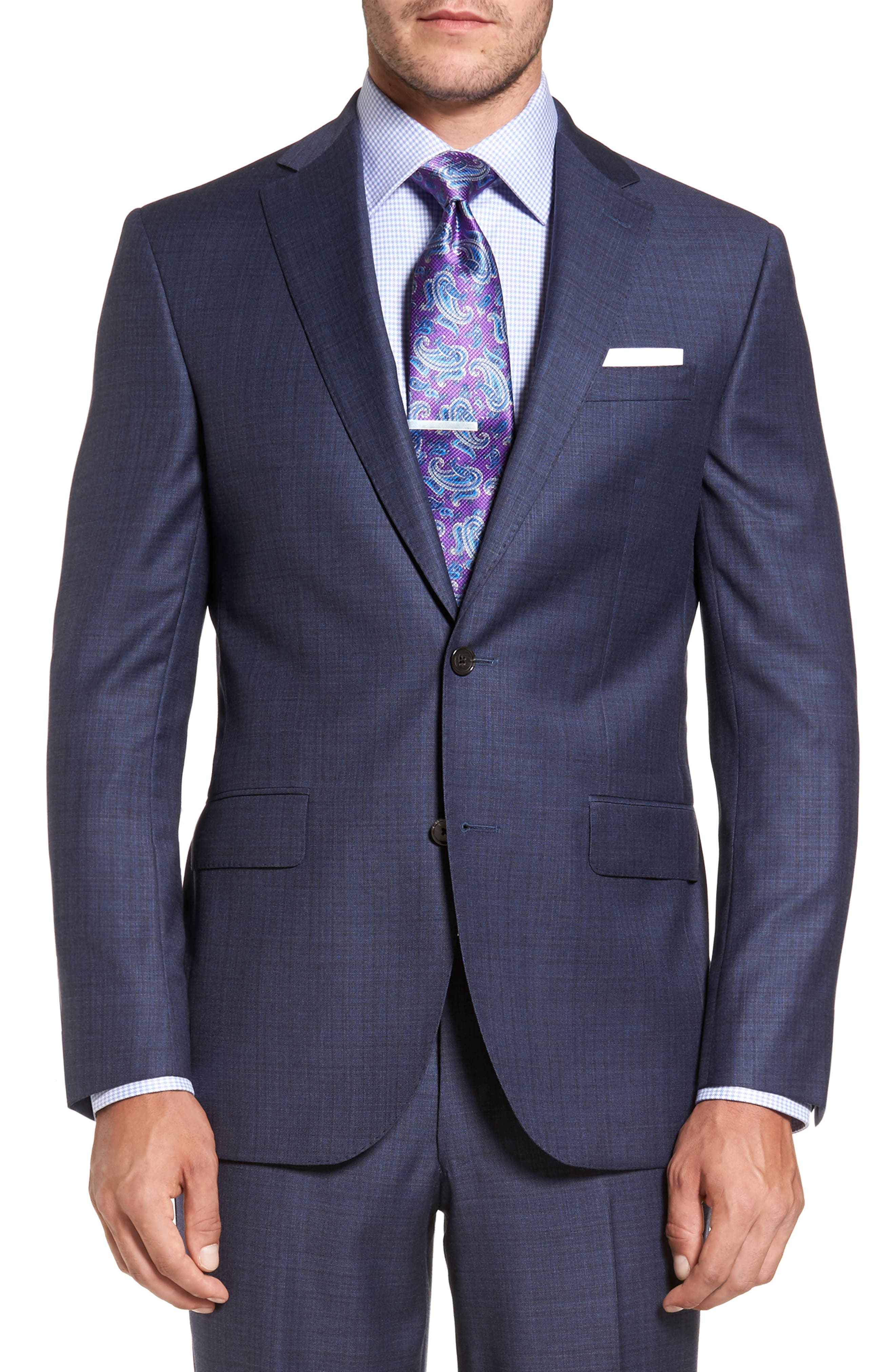 Ryan Classic Fit Check Wool Suit,                             Alternate thumbnail 5, color,                             420