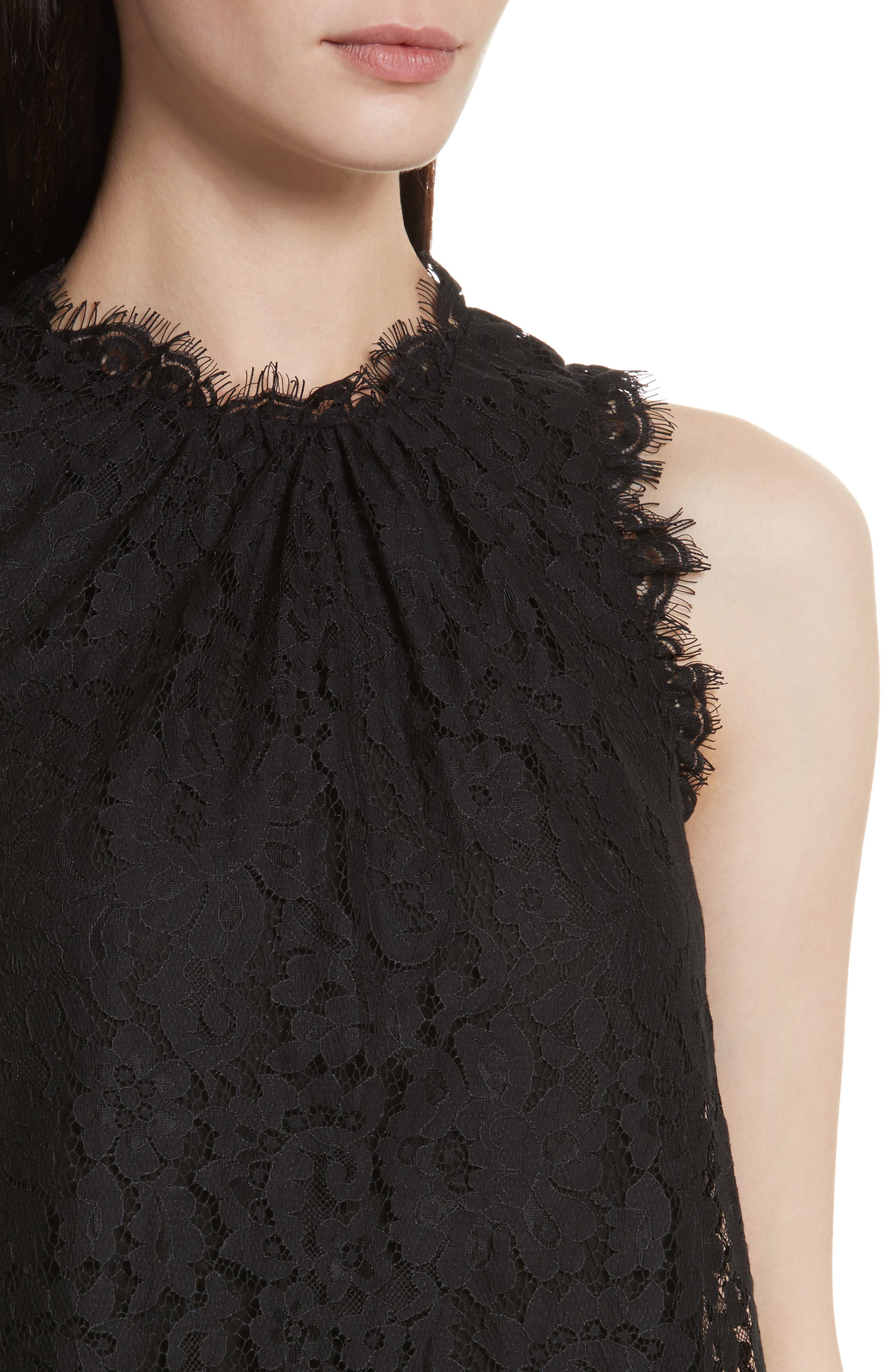 Marineth Lace Top,                             Alternate thumbnail 4, color,                             002