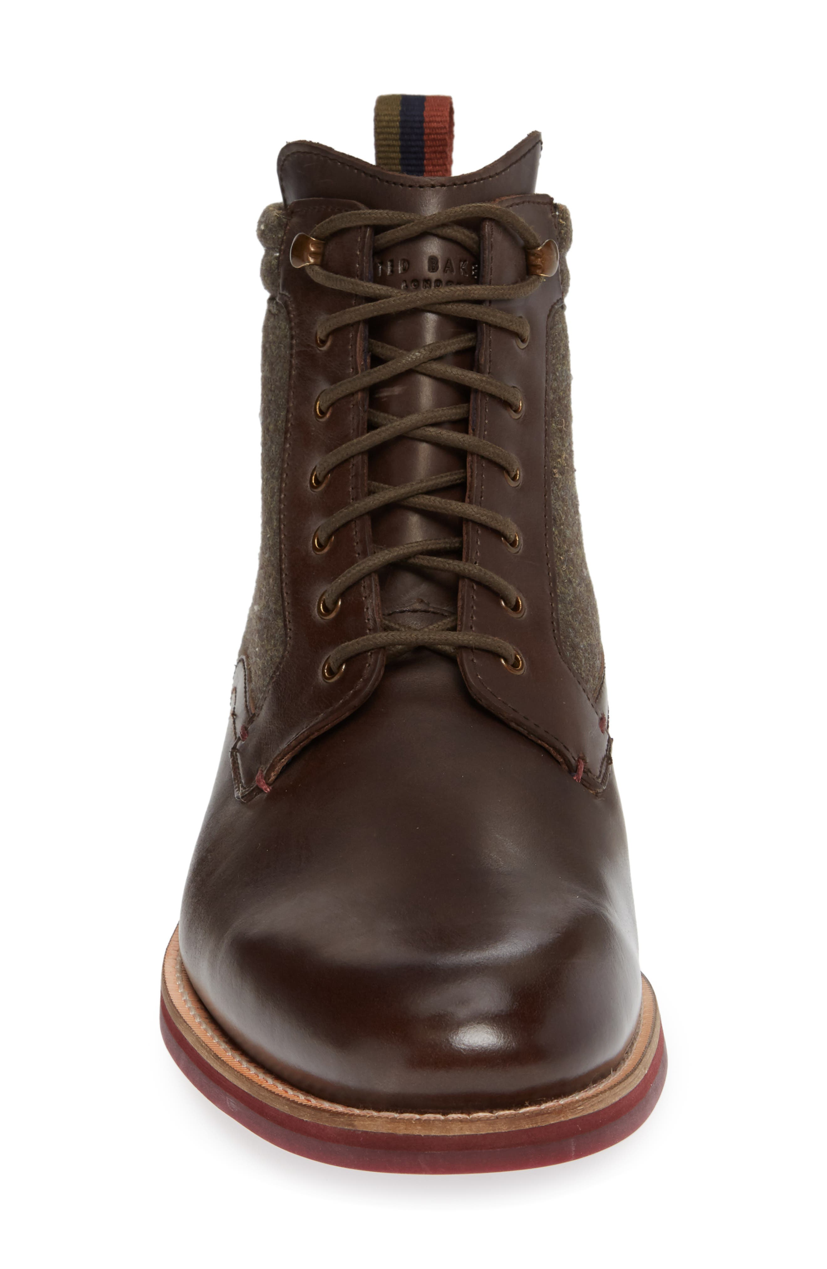 Axtoni Boot,                             Alternate thumbnail 4, color,                             BROWN LEATHER