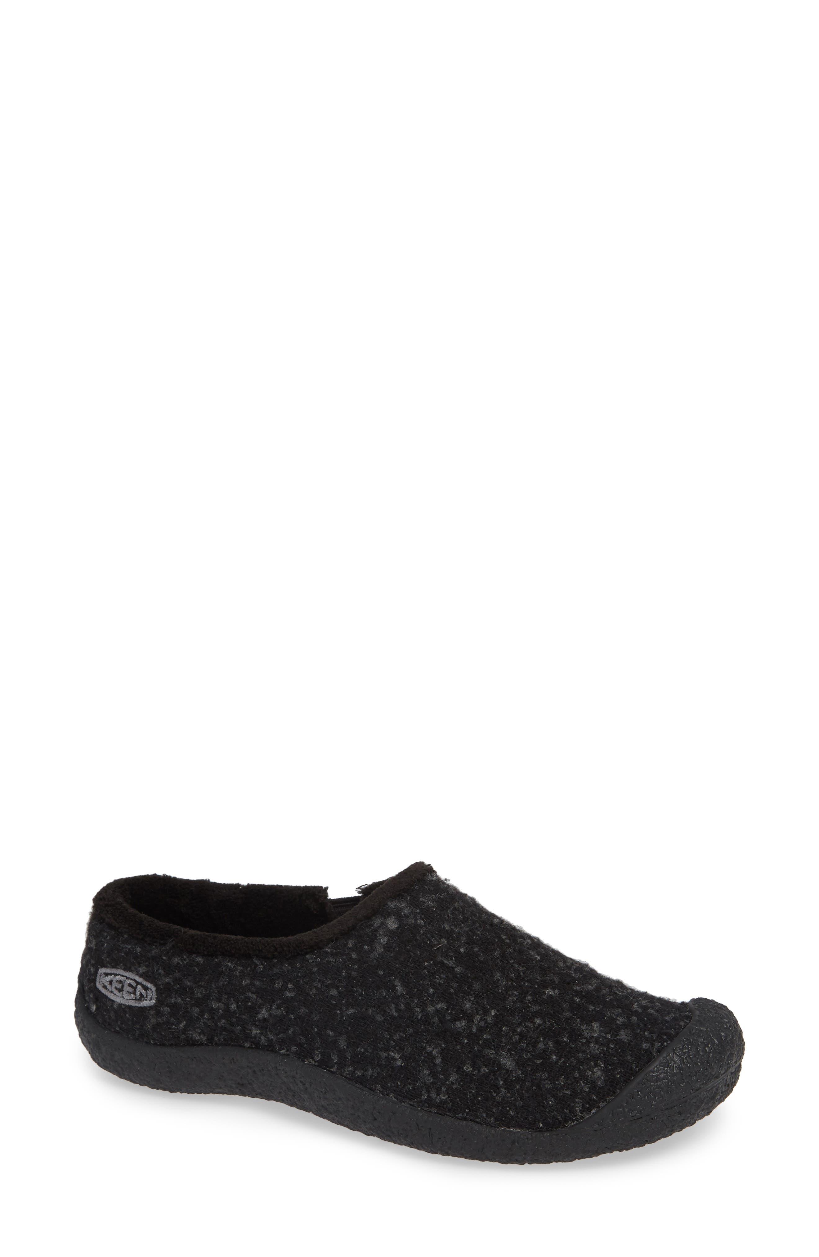 Keen Howser Round Toe Wool Slip-On, Black