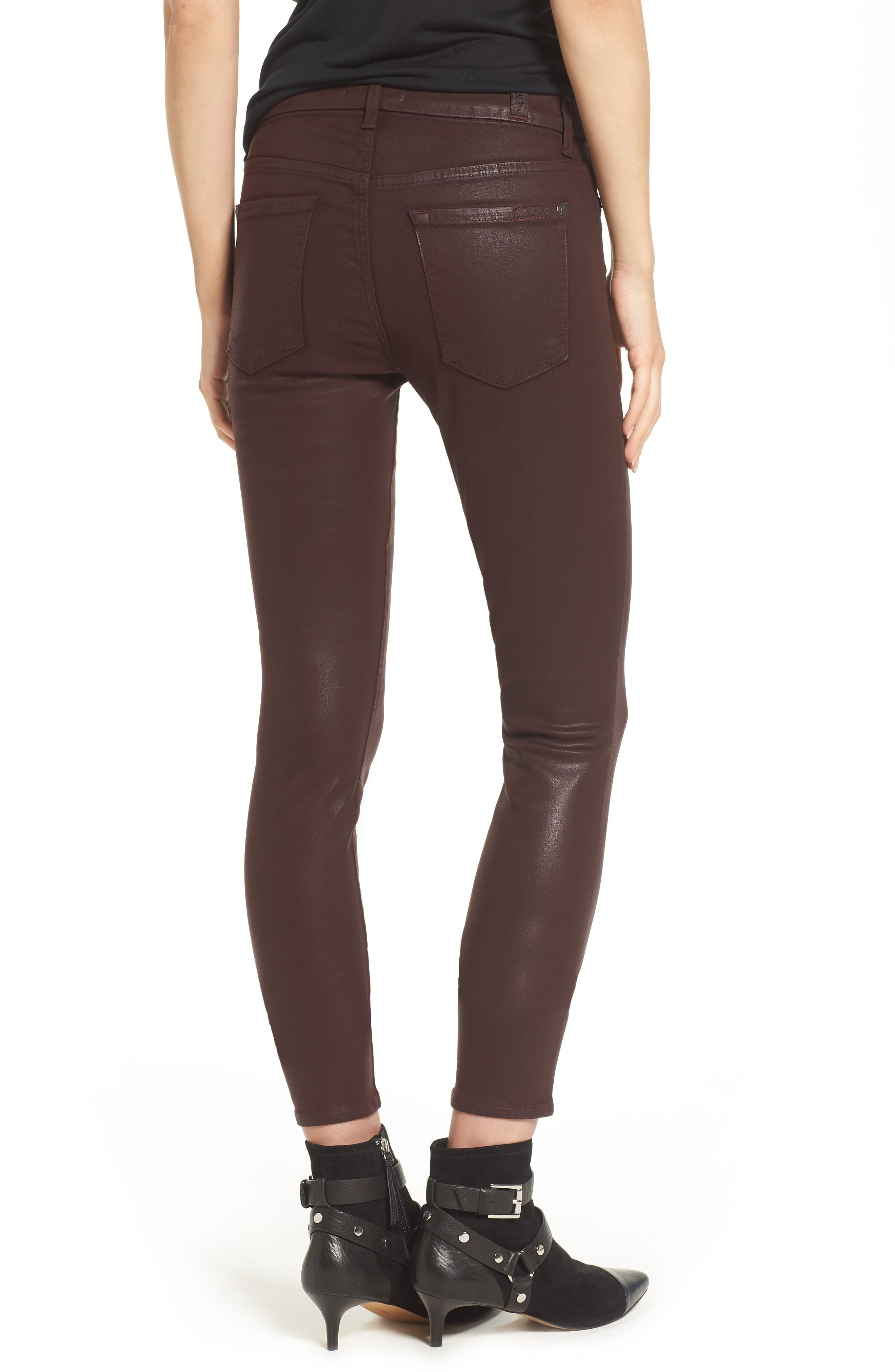 Coated Ankle Skinny Jeans,                             Alternate thumbnail 5, color,