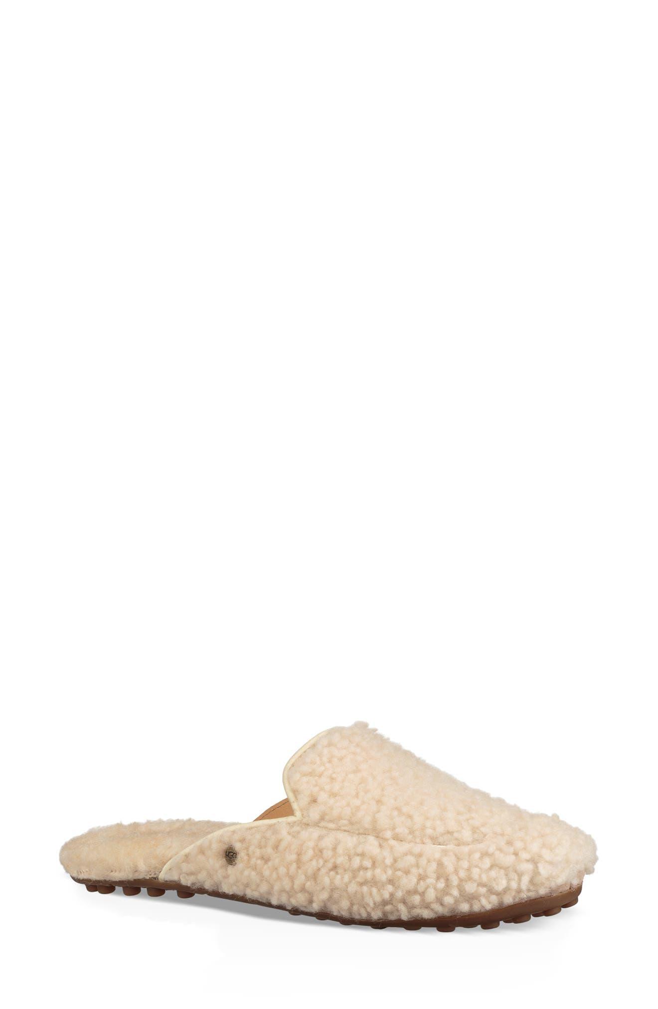 Ugg Lane Fluff Genuine Shearling Loafer Slipper, Beige