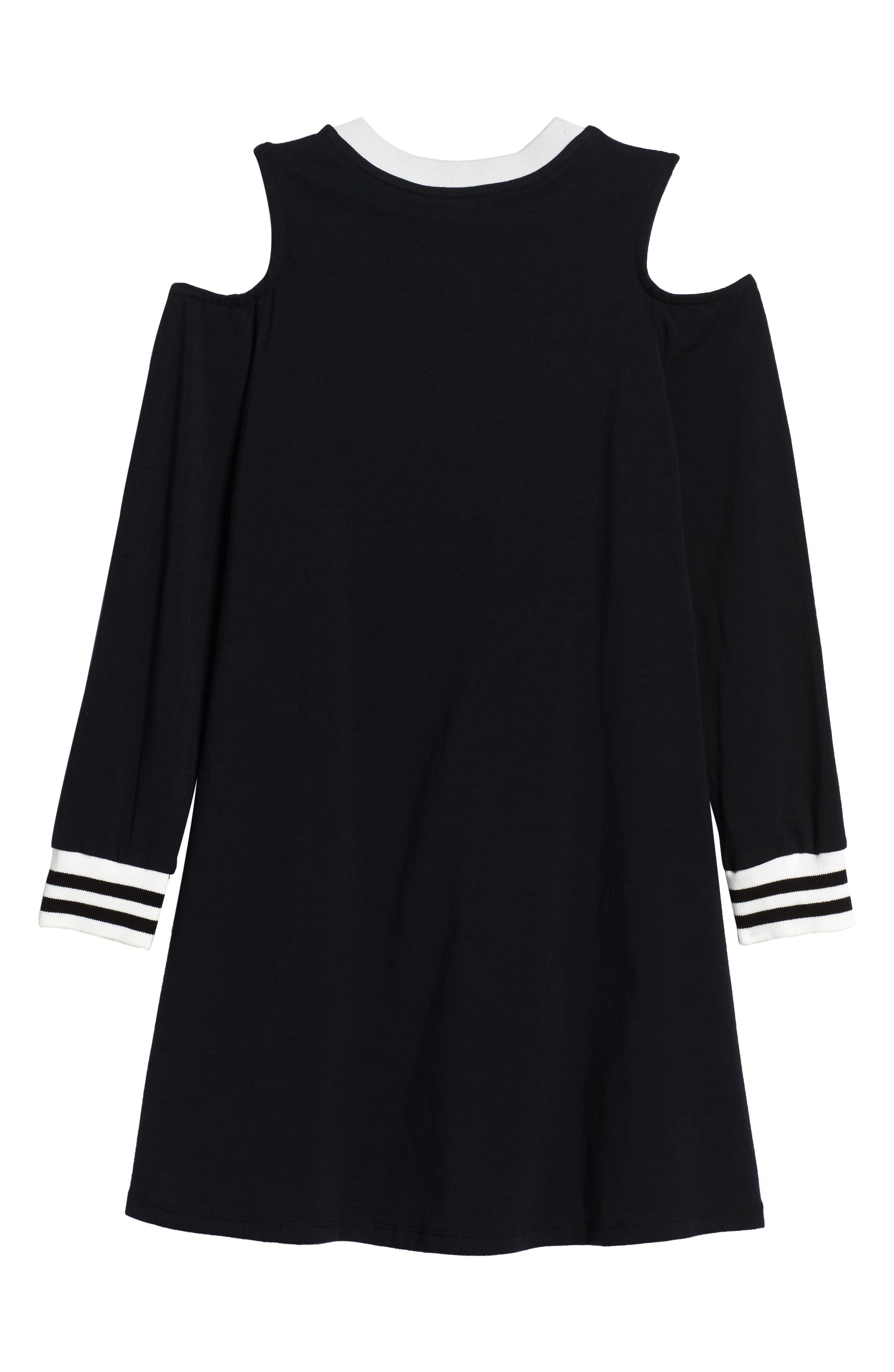 Cold Shoulder Dress,                             Alternate thumbnail 3, color,