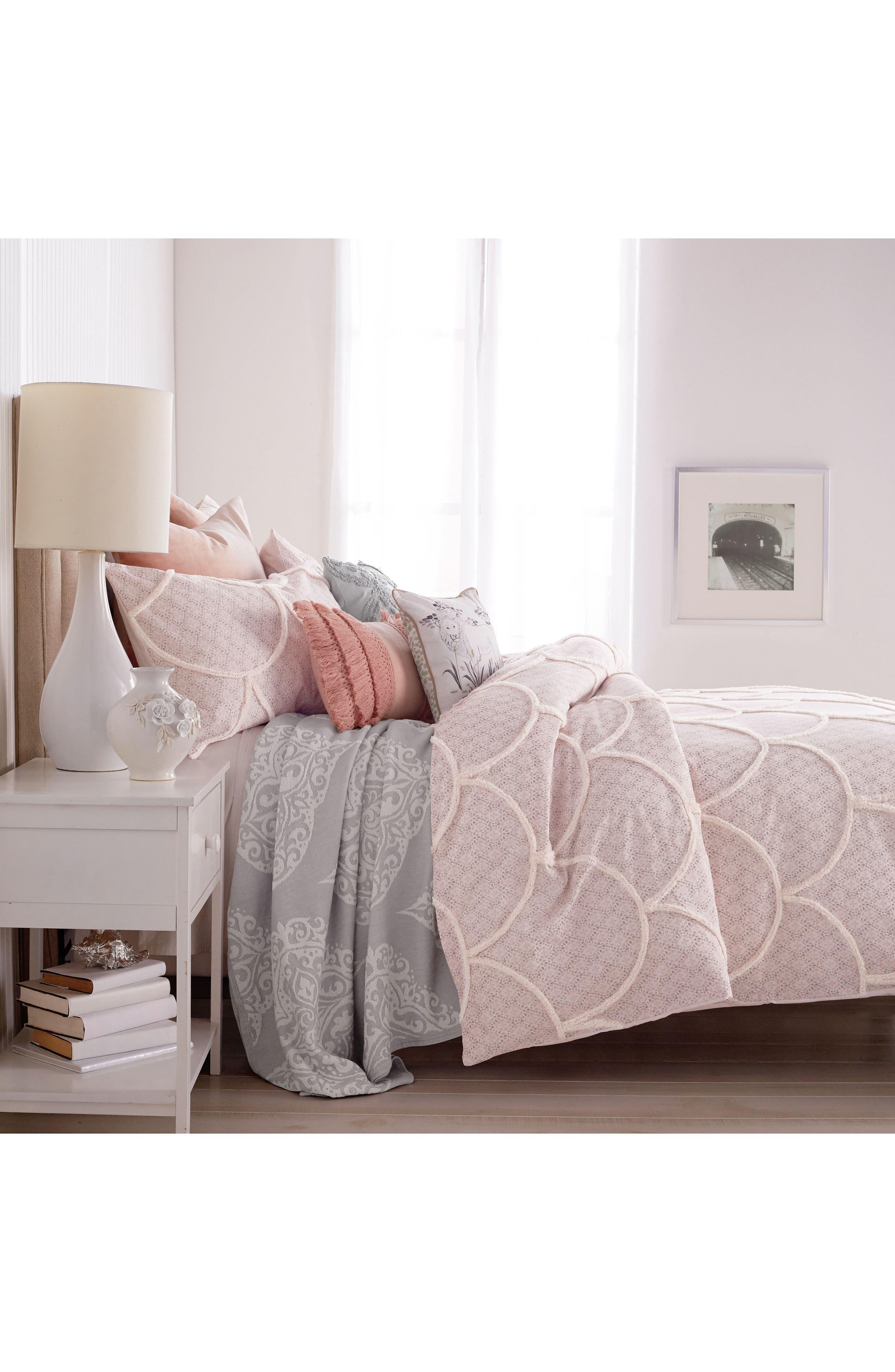 Chenille Scallop Comforter & Sham Set,                             Alternate thumbnail 2, color,                             650