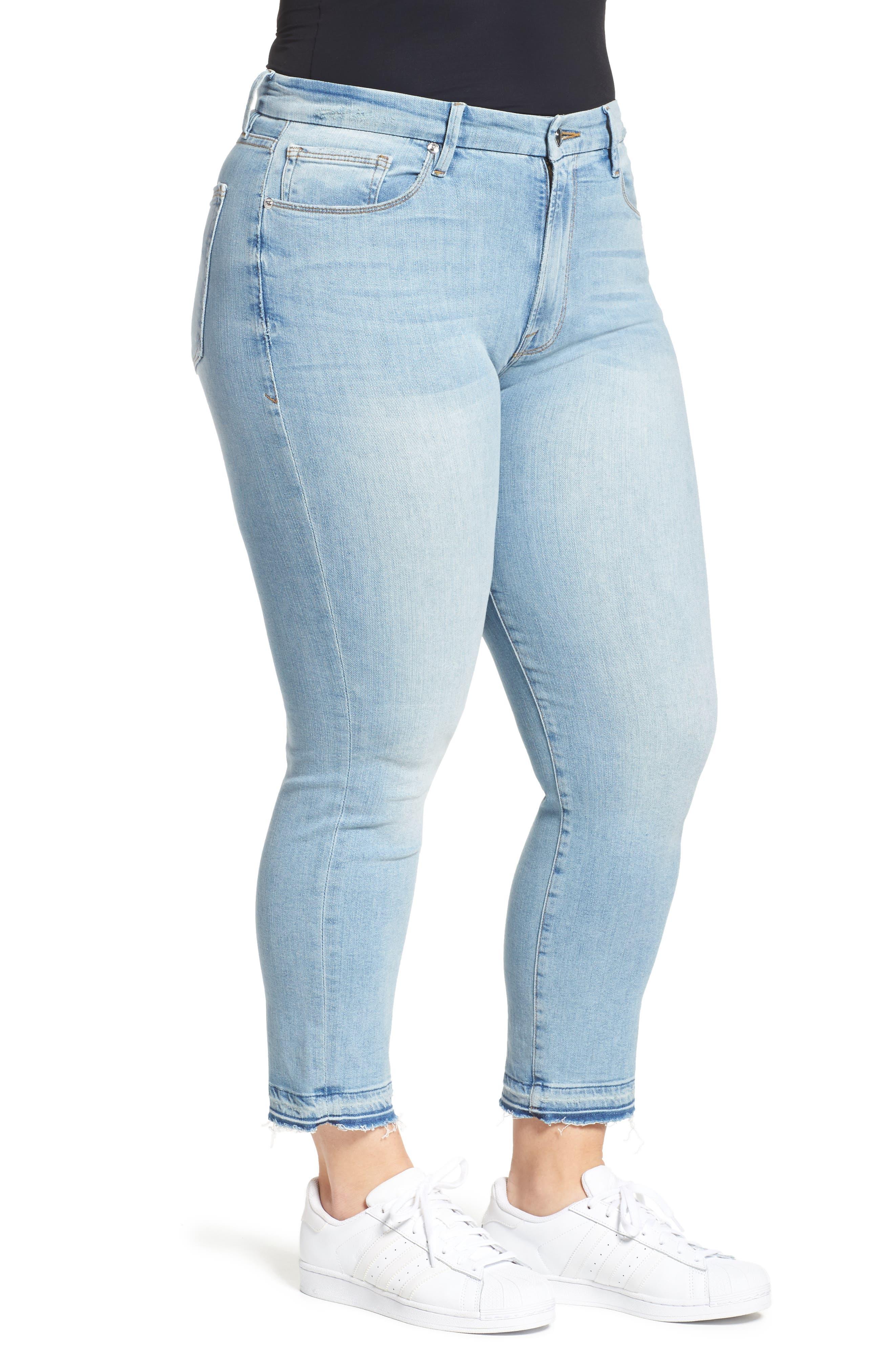 Good Waist High Rise Skinny Jeans,                             Alternate thumbnail 3, color,                             401