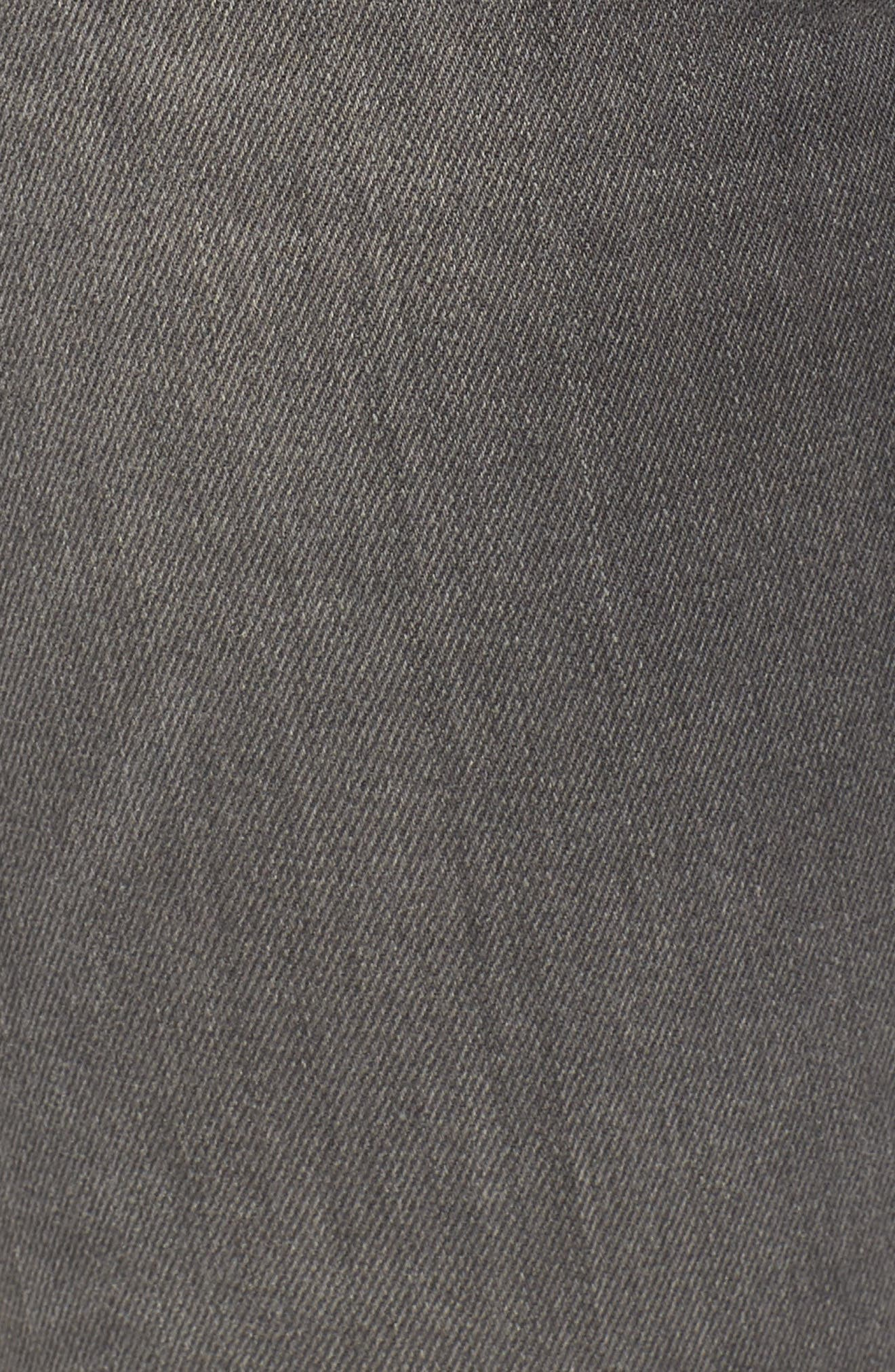 The Farrah High Waist Raw Hem Skinny Jeans,                             Alternate thumbnail 5, color,                             001