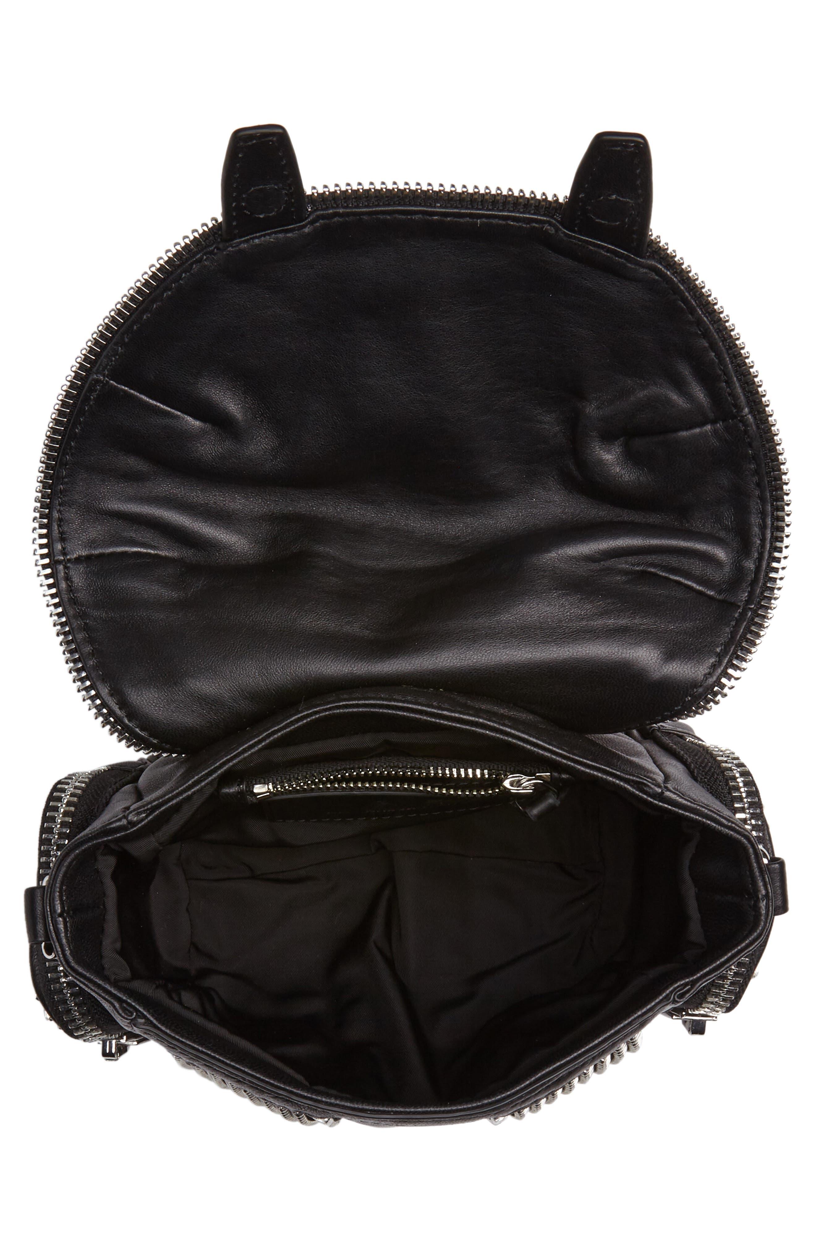 Micro Marti Leather Crossbody Bag,                             Alternate thumbnail 4, color,                             BLACK