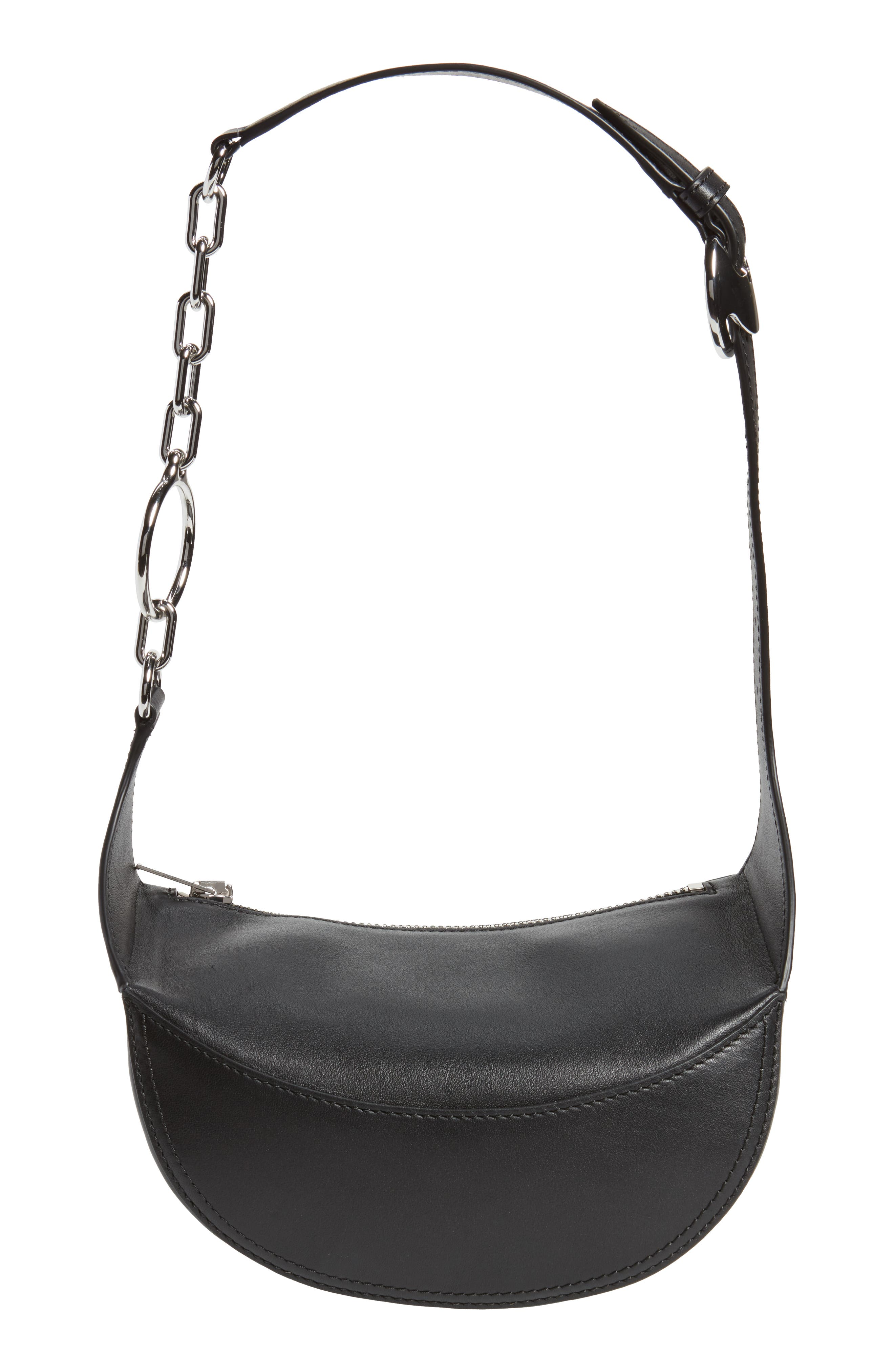 Leather Fanny Pack,                             Alternate thumbnail 7, color,                             001