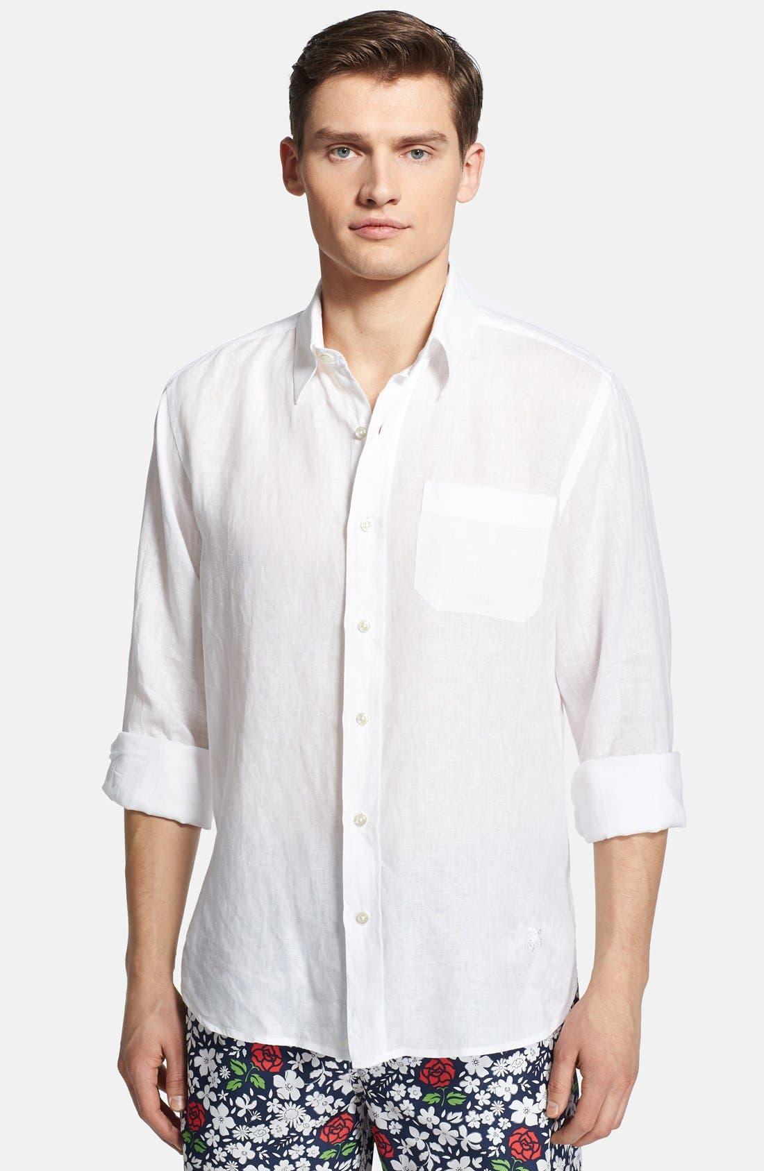 'Caroubier' Linen Shirt,                             Main thumbnail 3, color,
