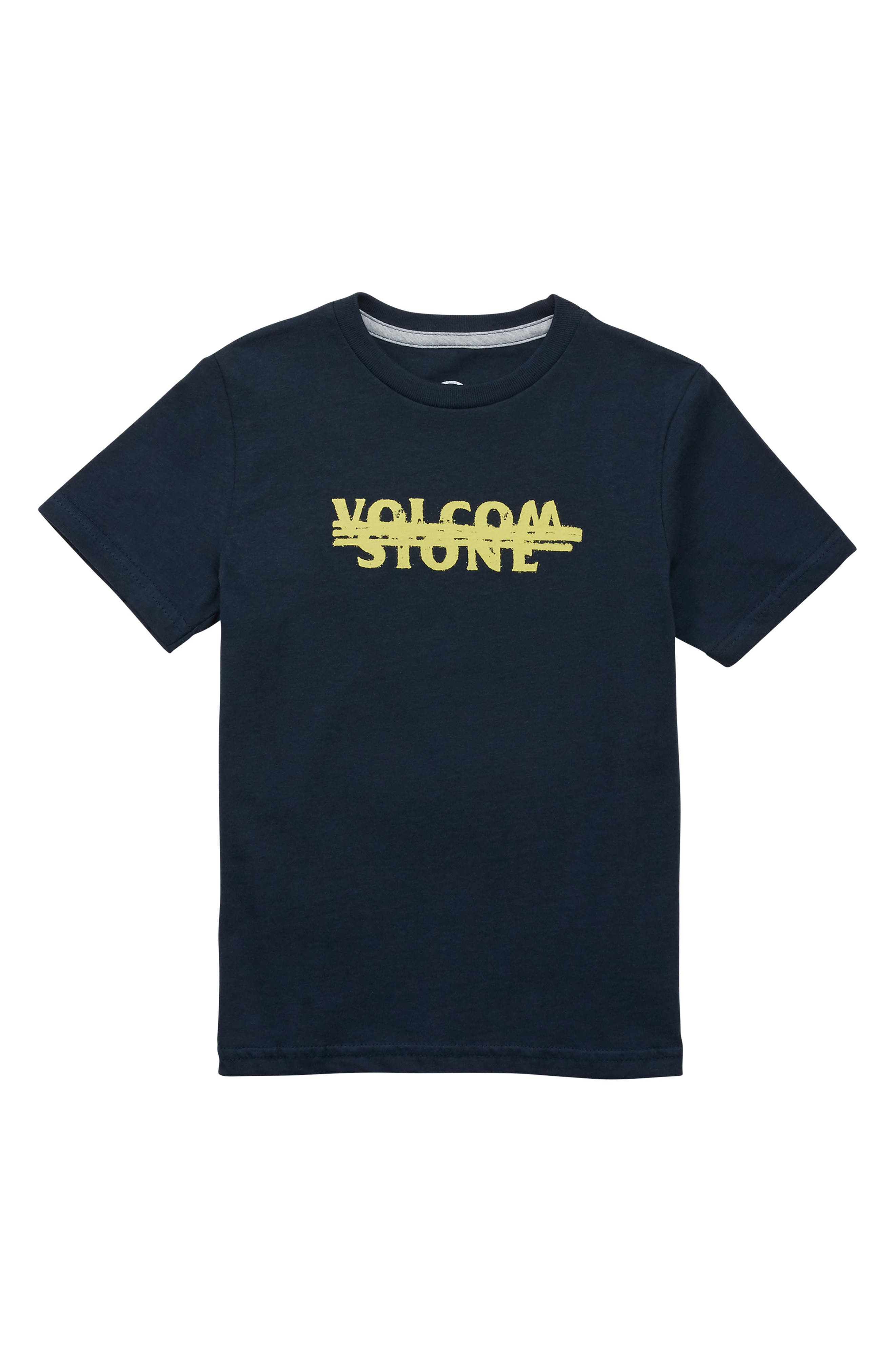 Cross Out Logo T-Shirt,                         Main,                         color, NAVY