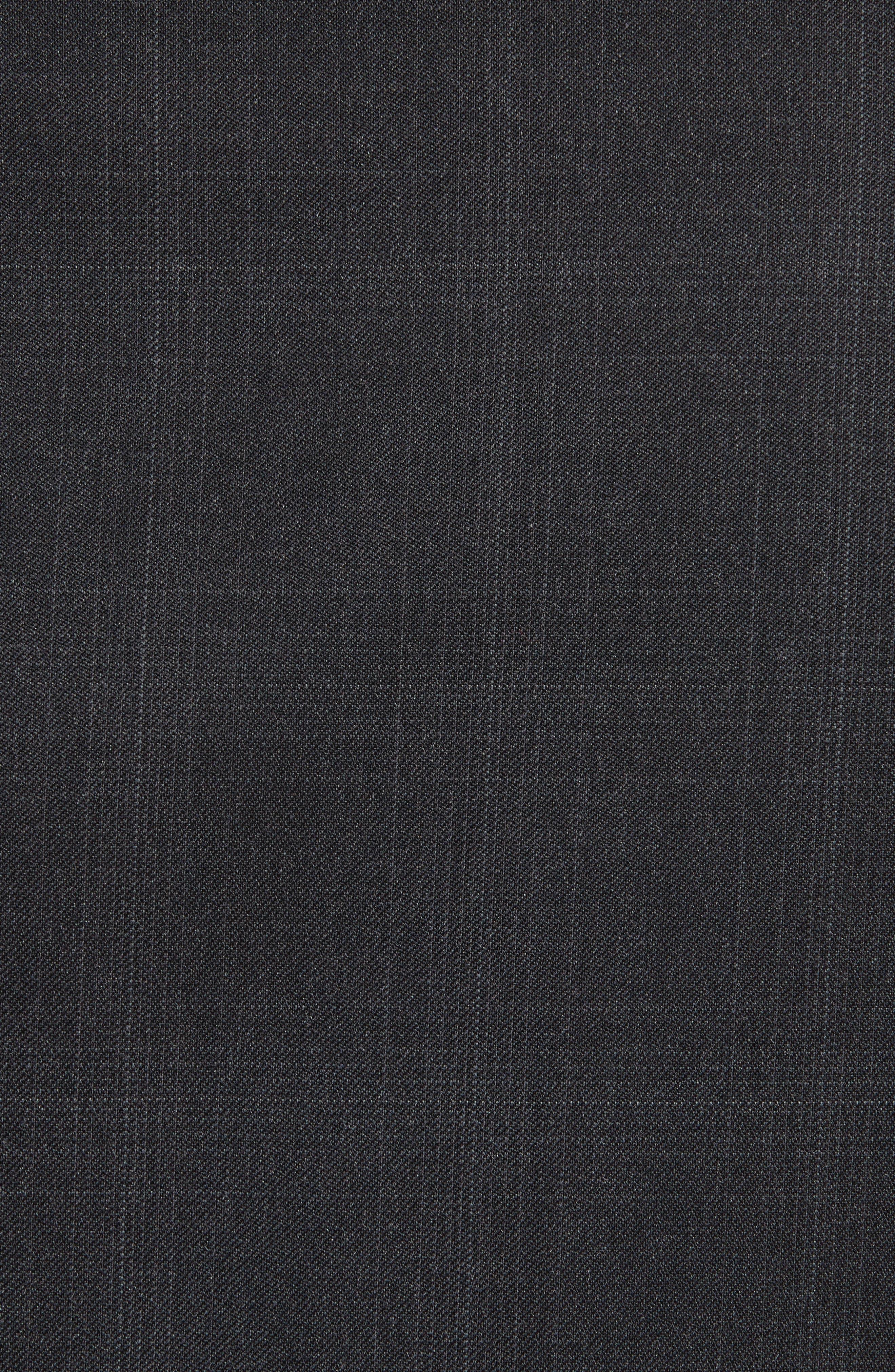 Drop 7 Trim Fit Plaid Wool Suit,                             Alternate thumbnail 7, color,                             026